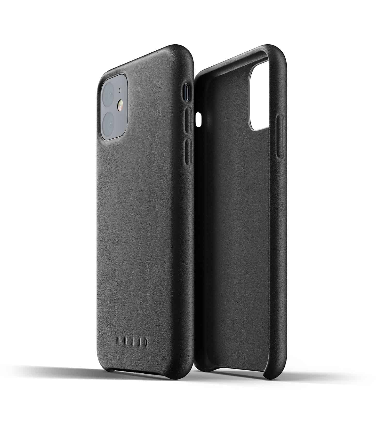 Full leather case for iPhone 11 Black Thumbnail 02
