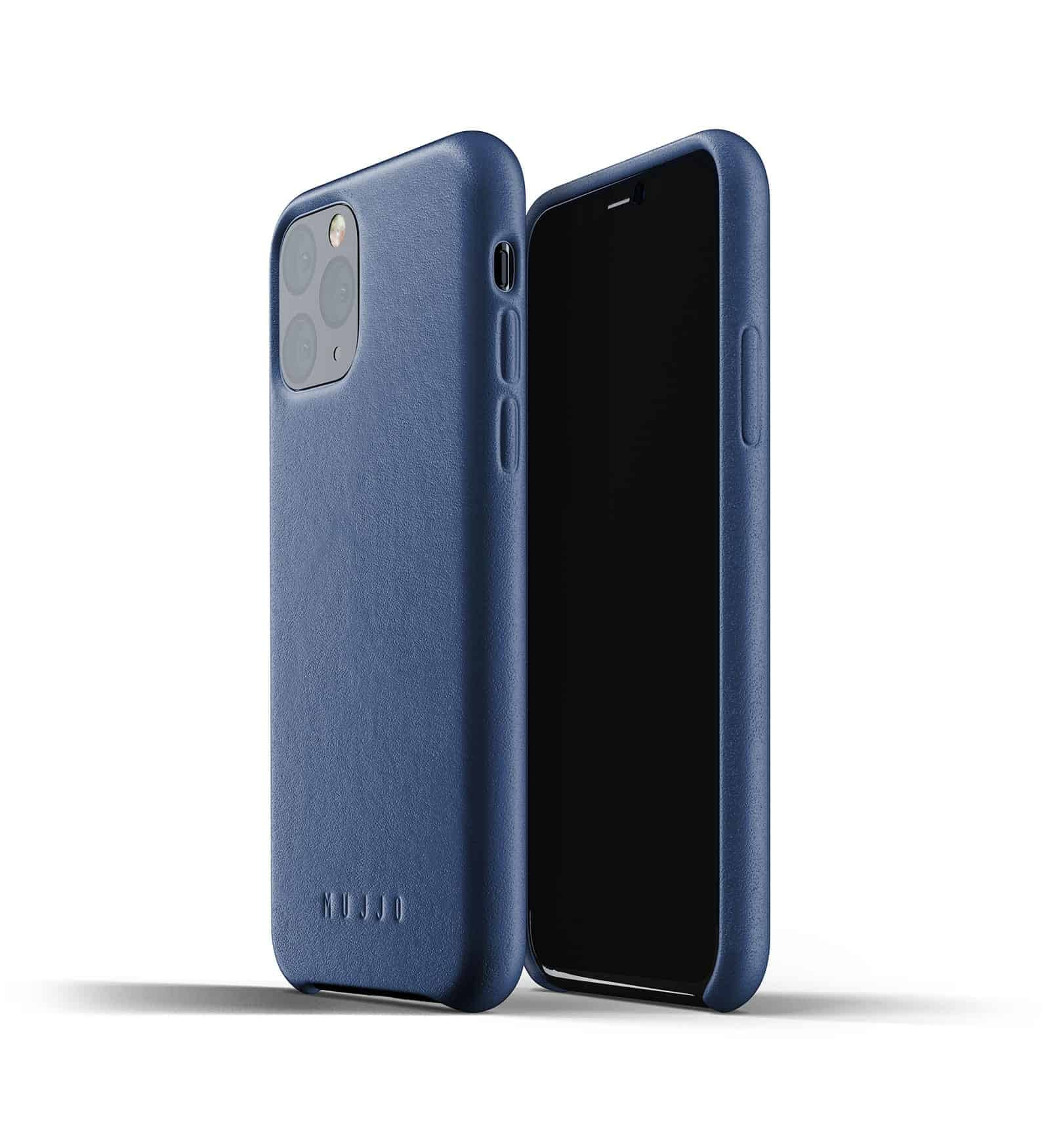 Full leather case for iPhone 11 Pro Blue Thumbnail 01