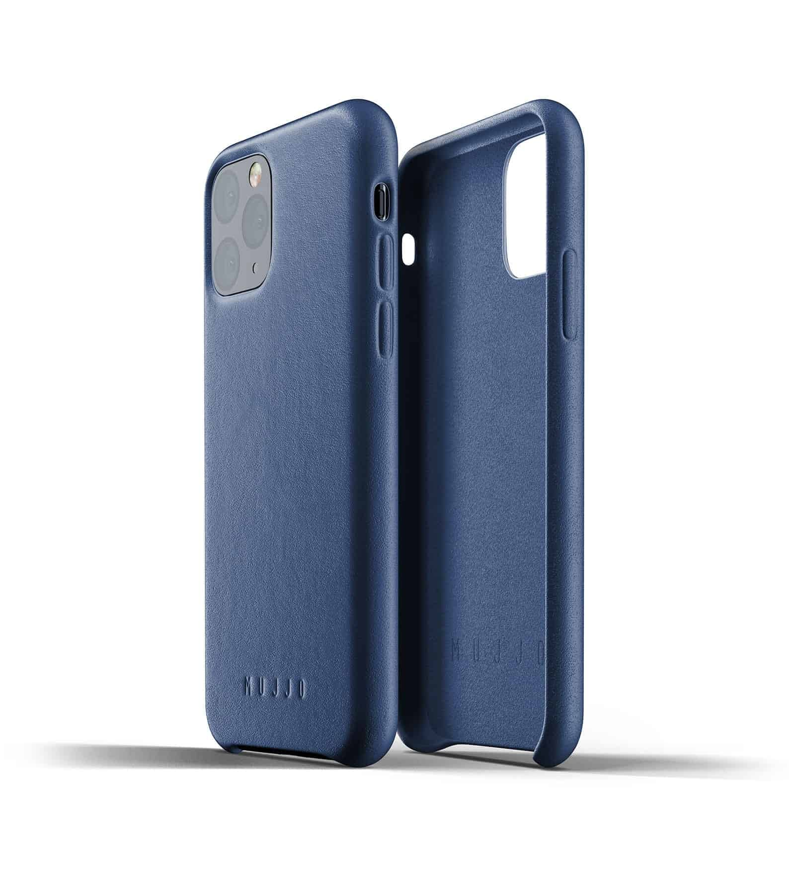 Full leather case for iPhone 11 Pro Blue Thumbnail 02