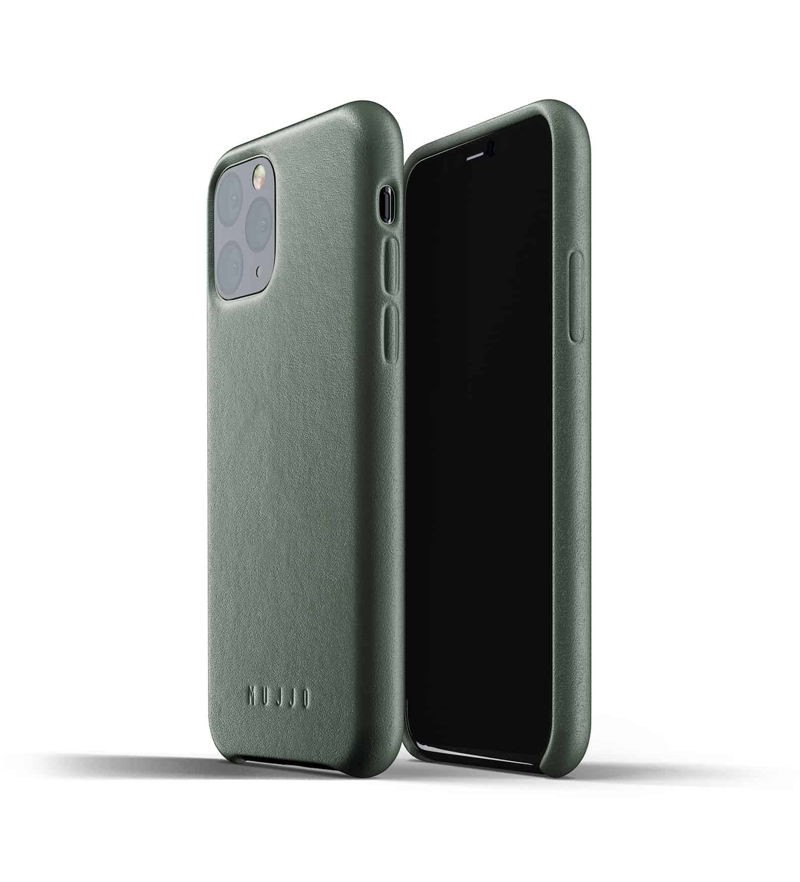 Full leather case for iPhone 11 Pro Slate Green Thumbnail 01