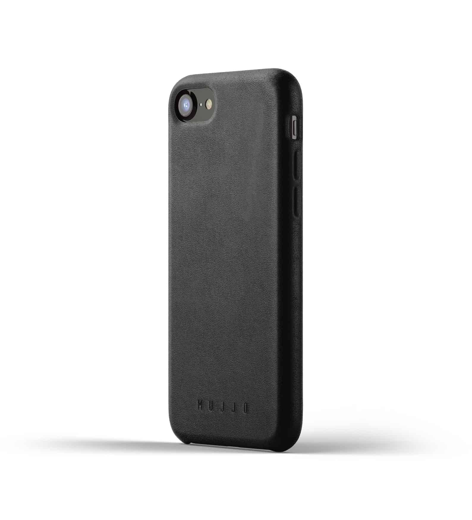 Full leather case for iPhone 8 Black Thumbnail 01