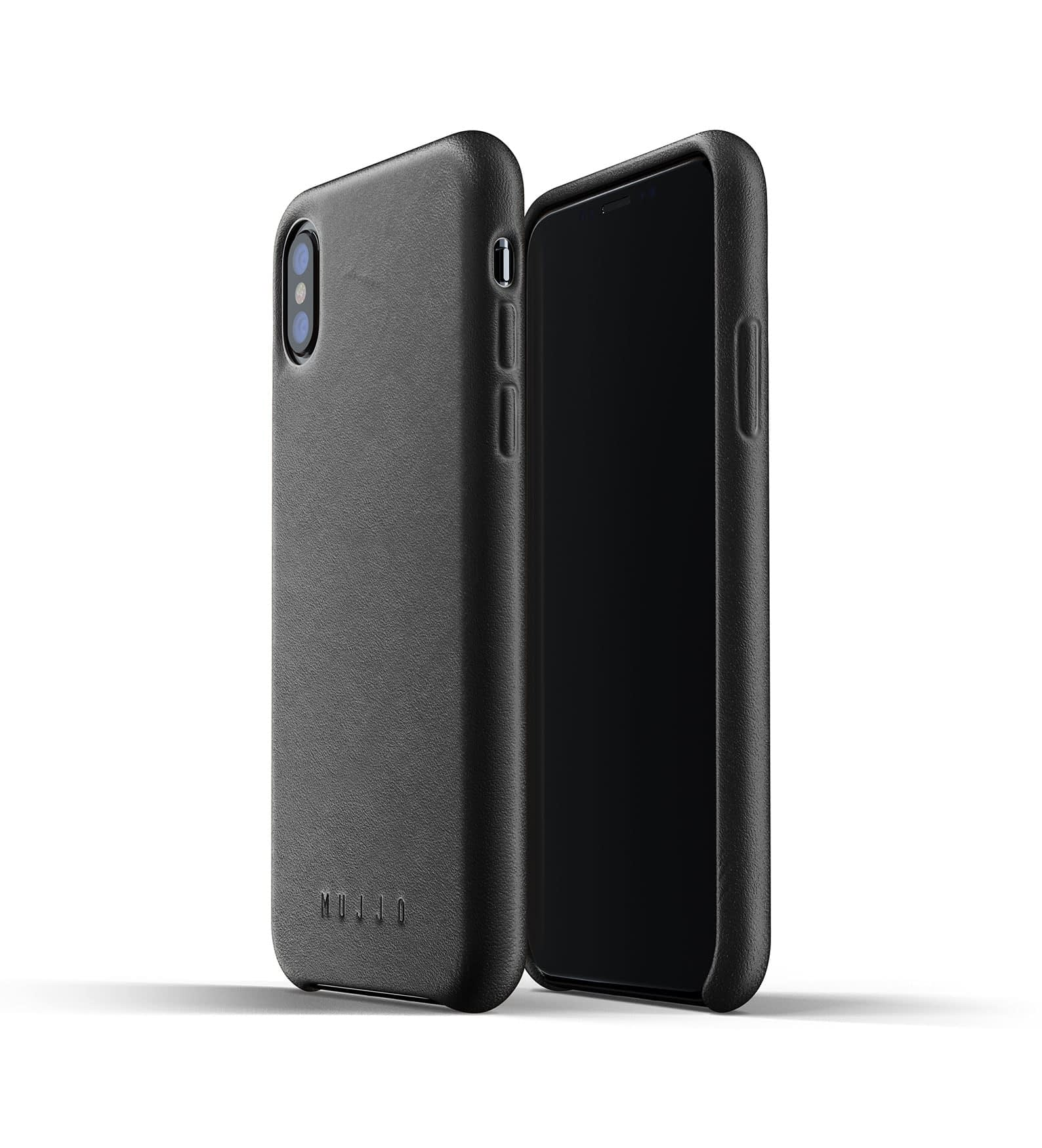 Full leather case for iPhone Xs Black Thumbnail 01