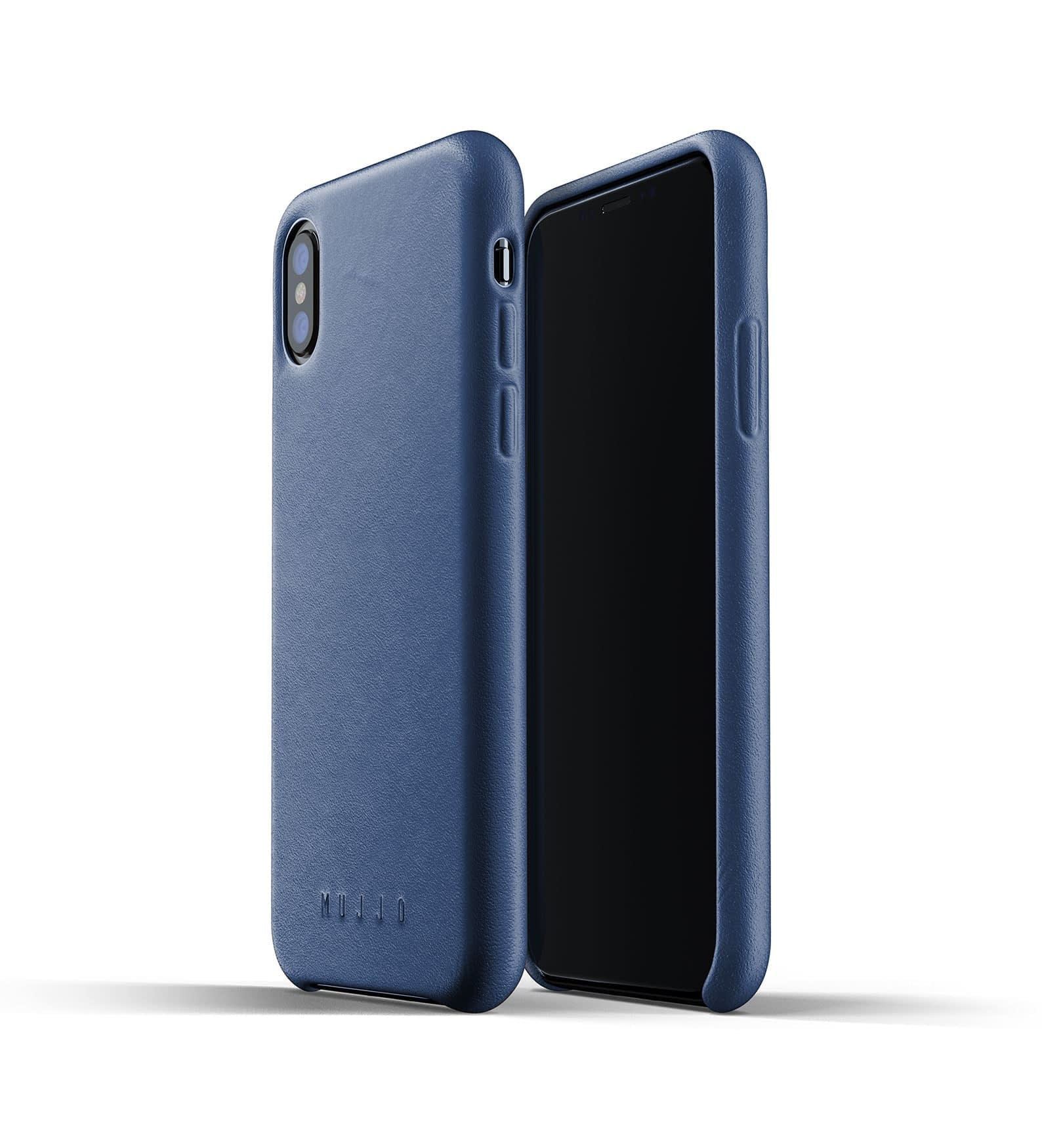 Full leather case for iPhone Xs Blue Thumbnail 01