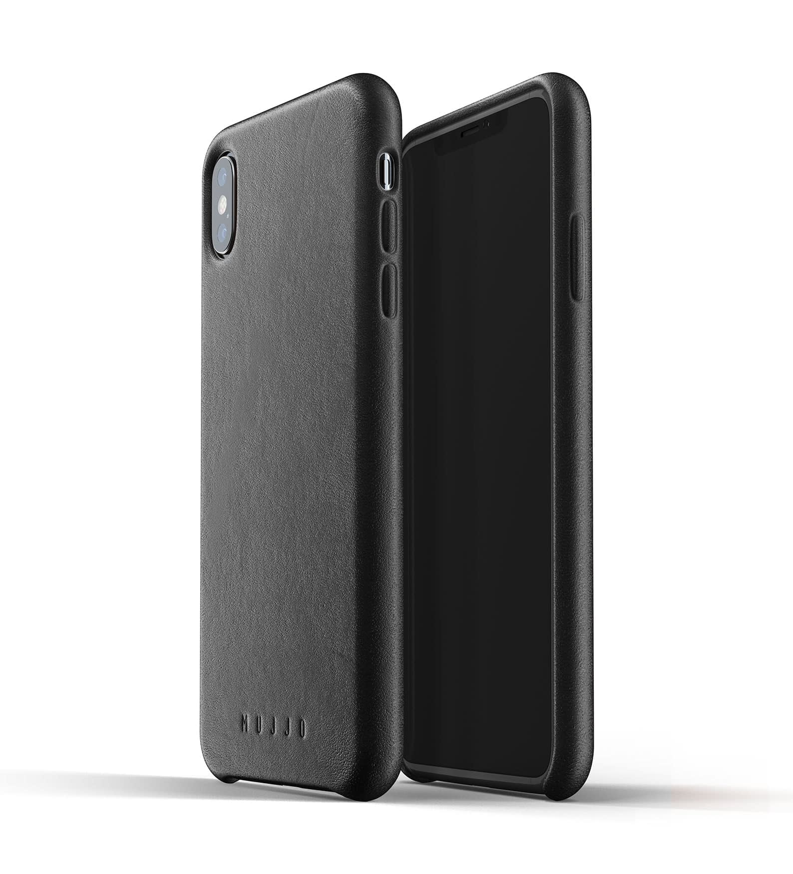 Full leather case for iPhone Xs Max Black Thumbnail 01