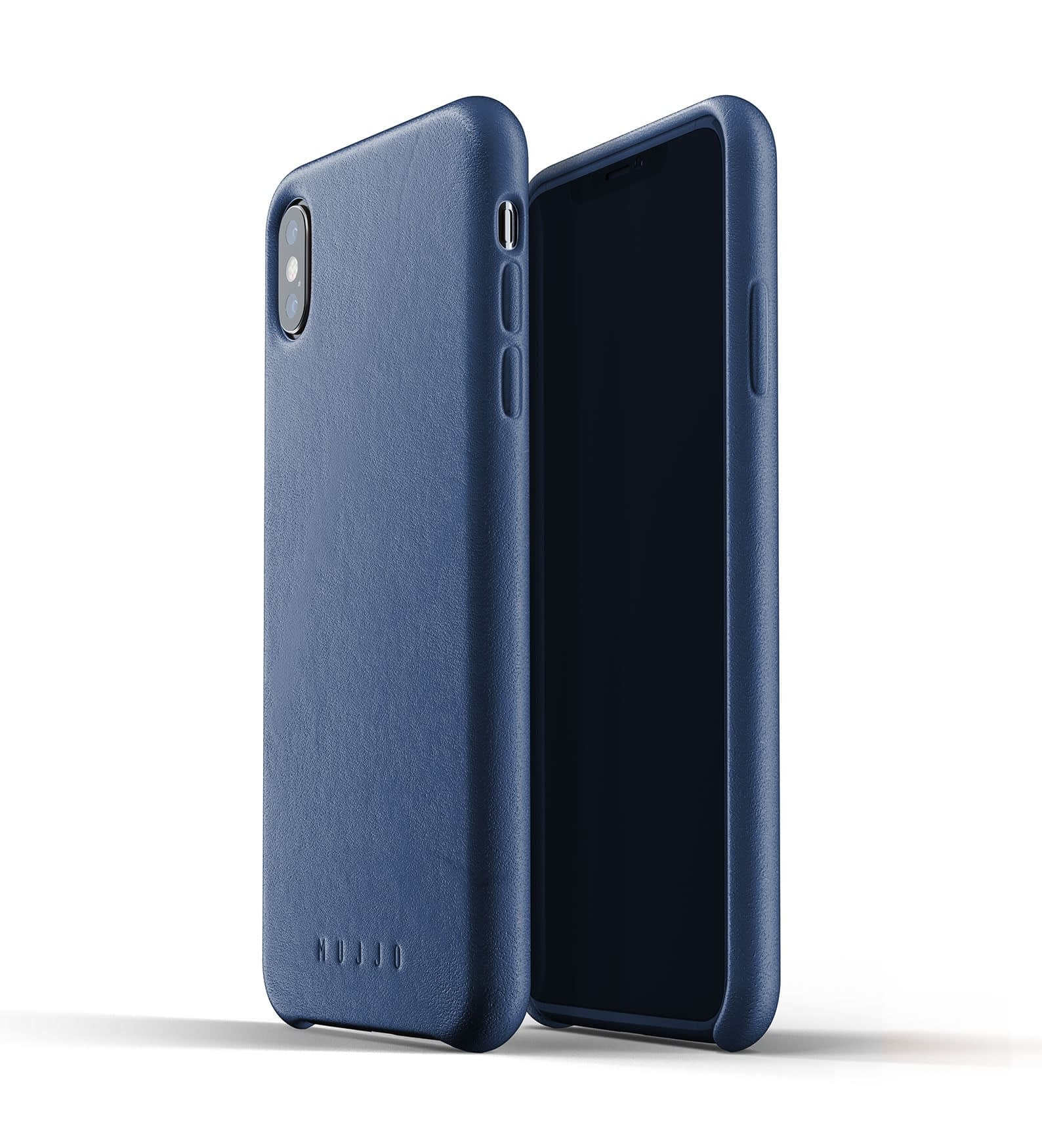Full leather case for iPhone Xs Max Blue Thumbnail 01
