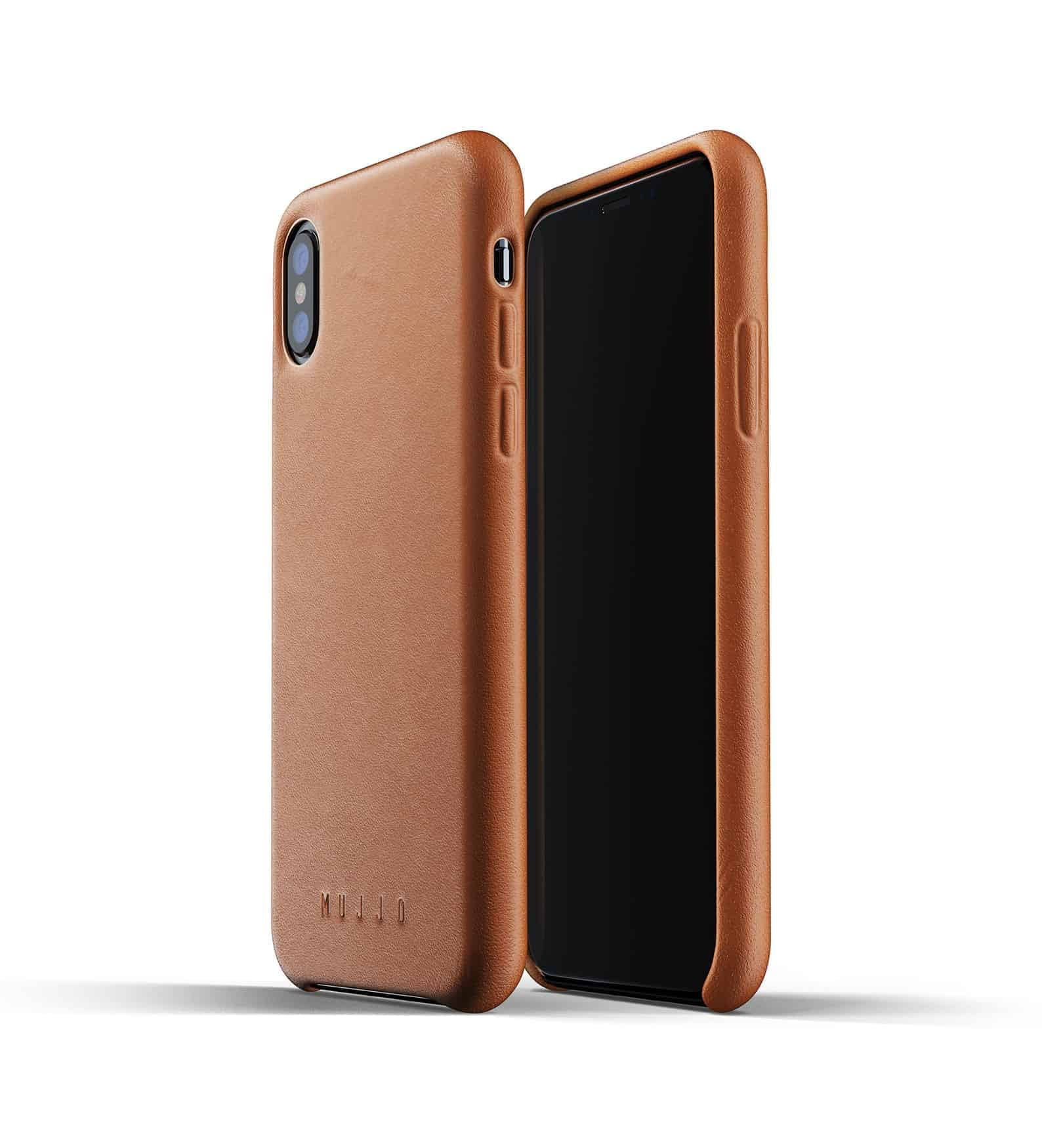 Full leather case for iPhone Xs Tan Thumbnail 01