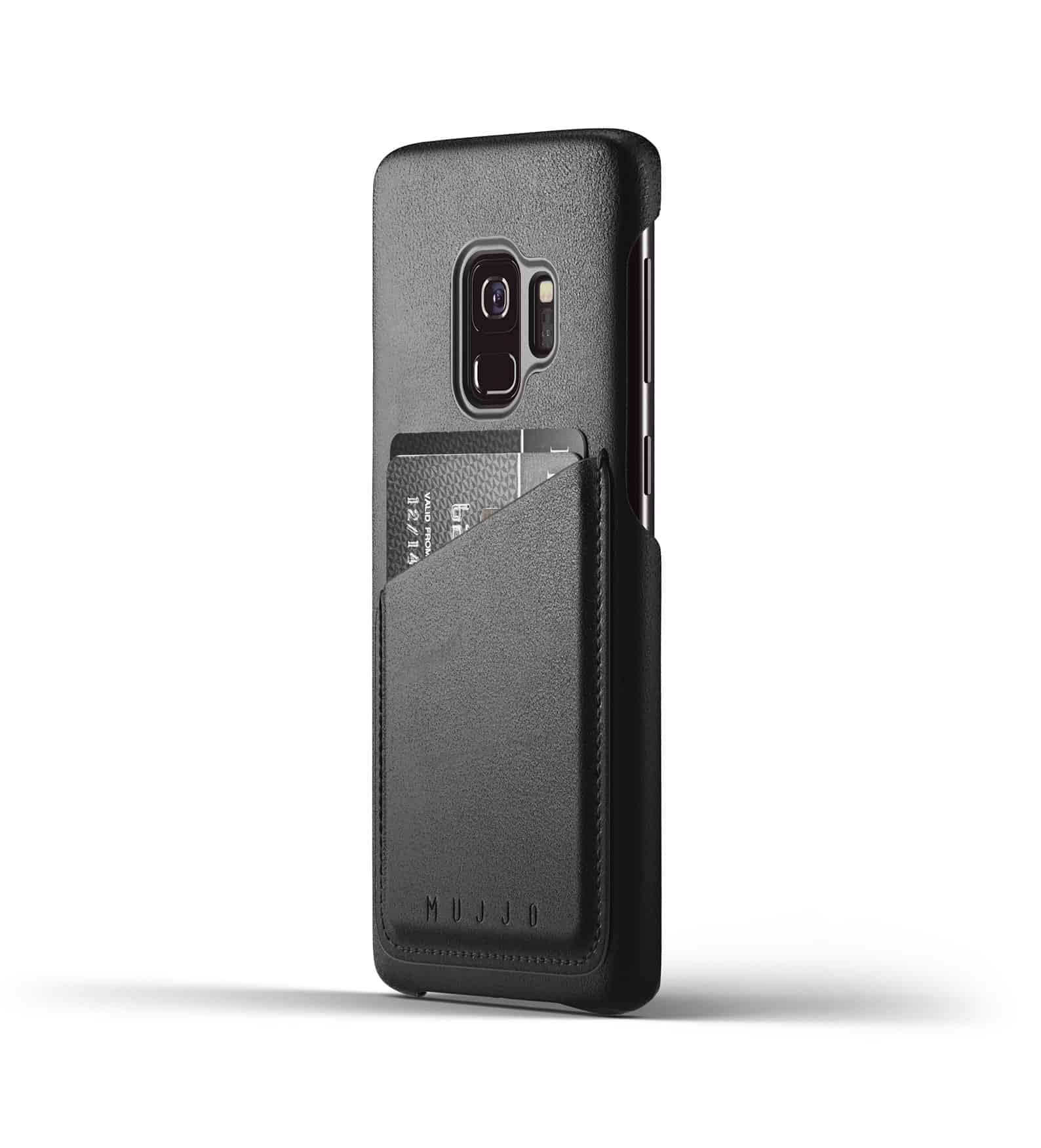 Full leather wallet case for Galaxy S9 Black Thumbnail 01