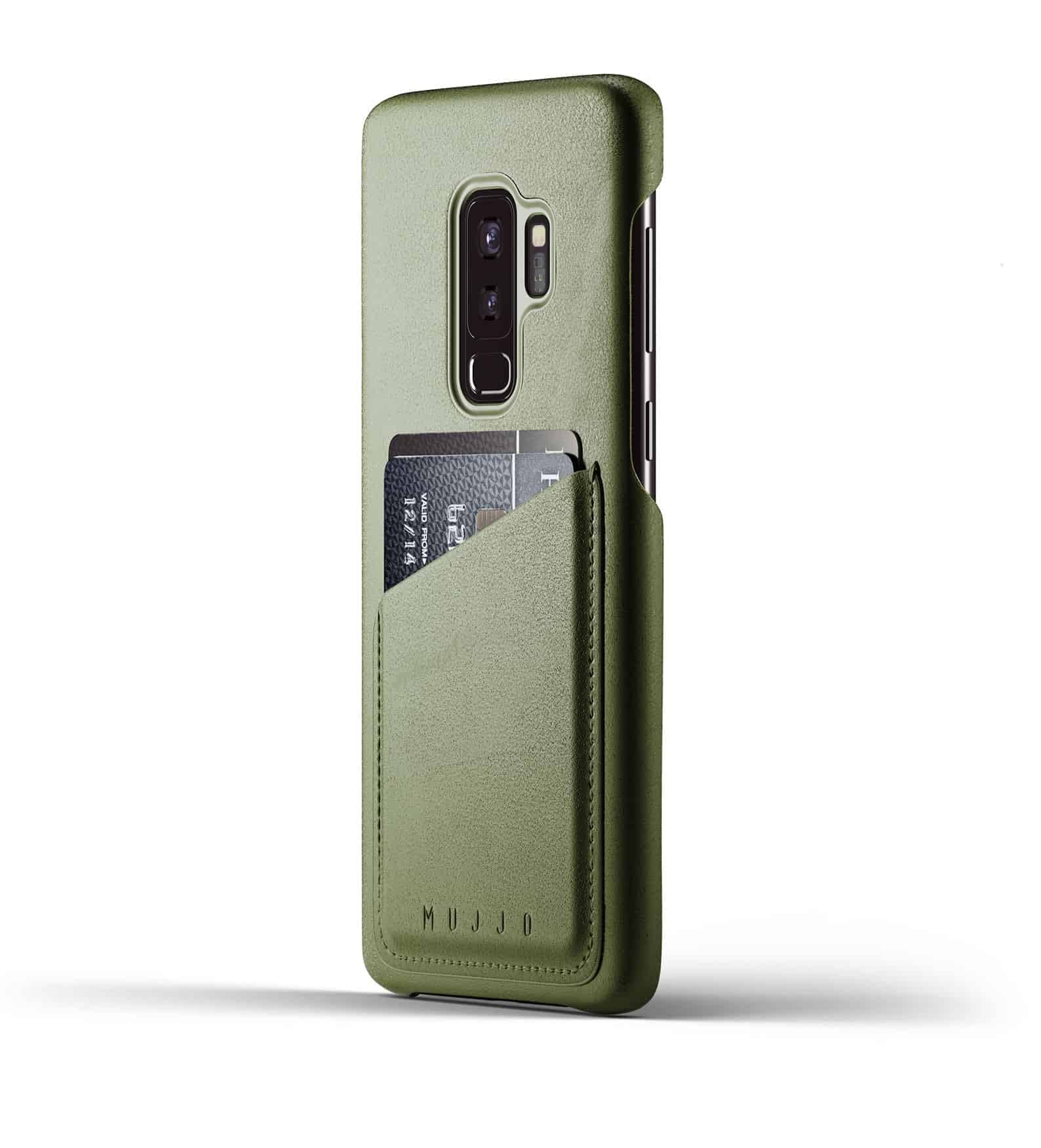 Full leather wallet case for Galaxy S9 Plus Olive Thumbnail 01
