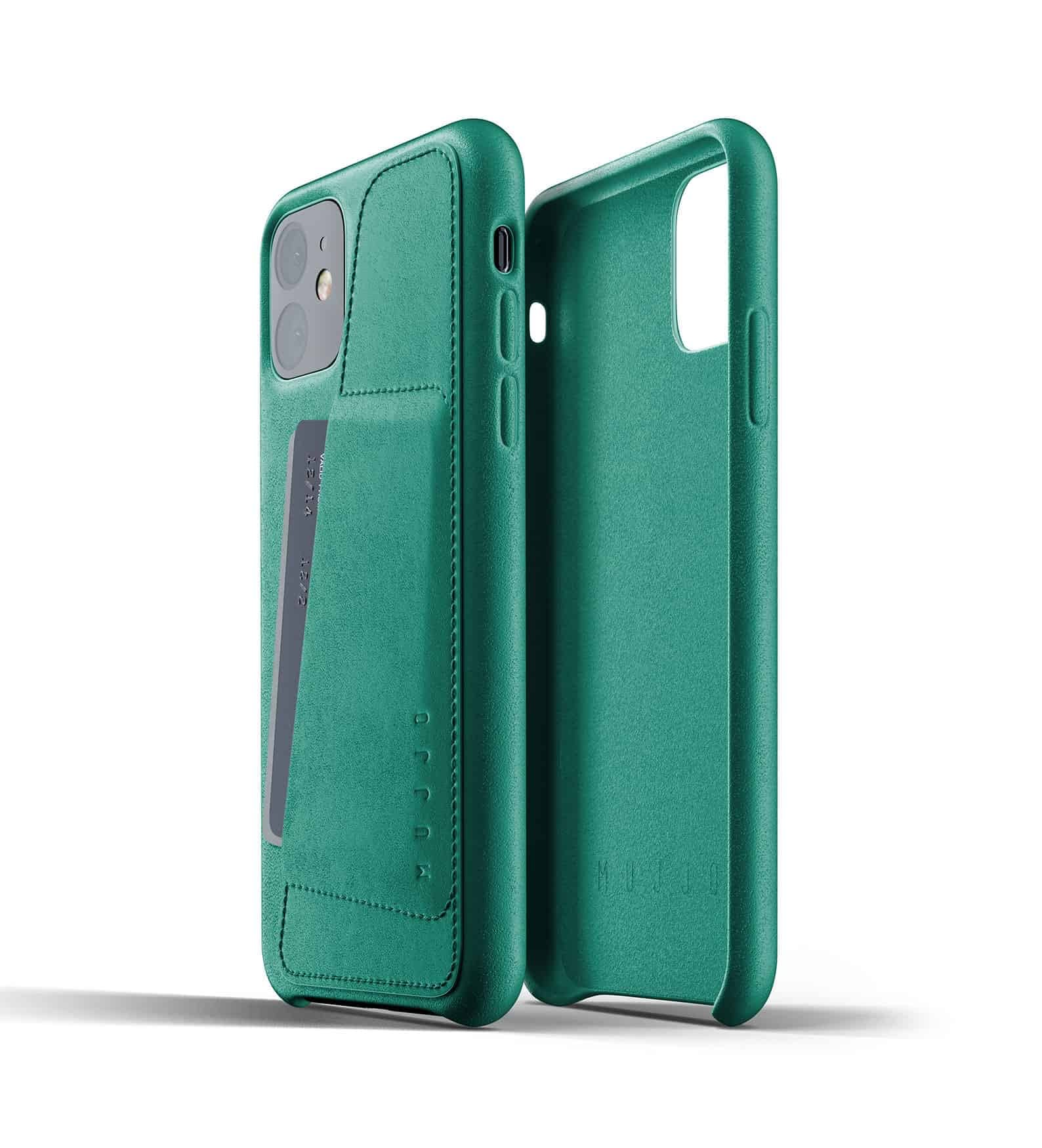 Full leather wallet case for iPhone 11 Alpine Green Thumbnail 02