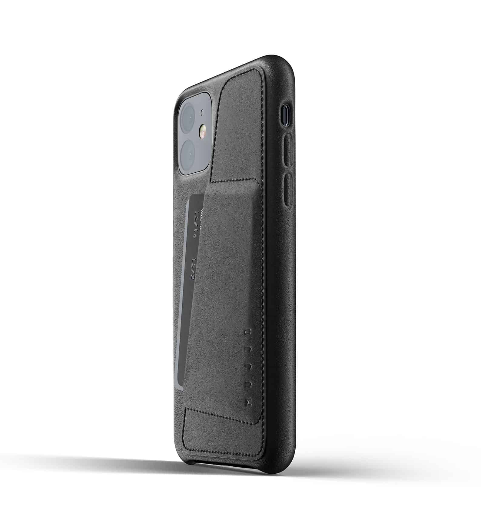 Full leather wallet case for iPhone 11 Black Thumbnail 03