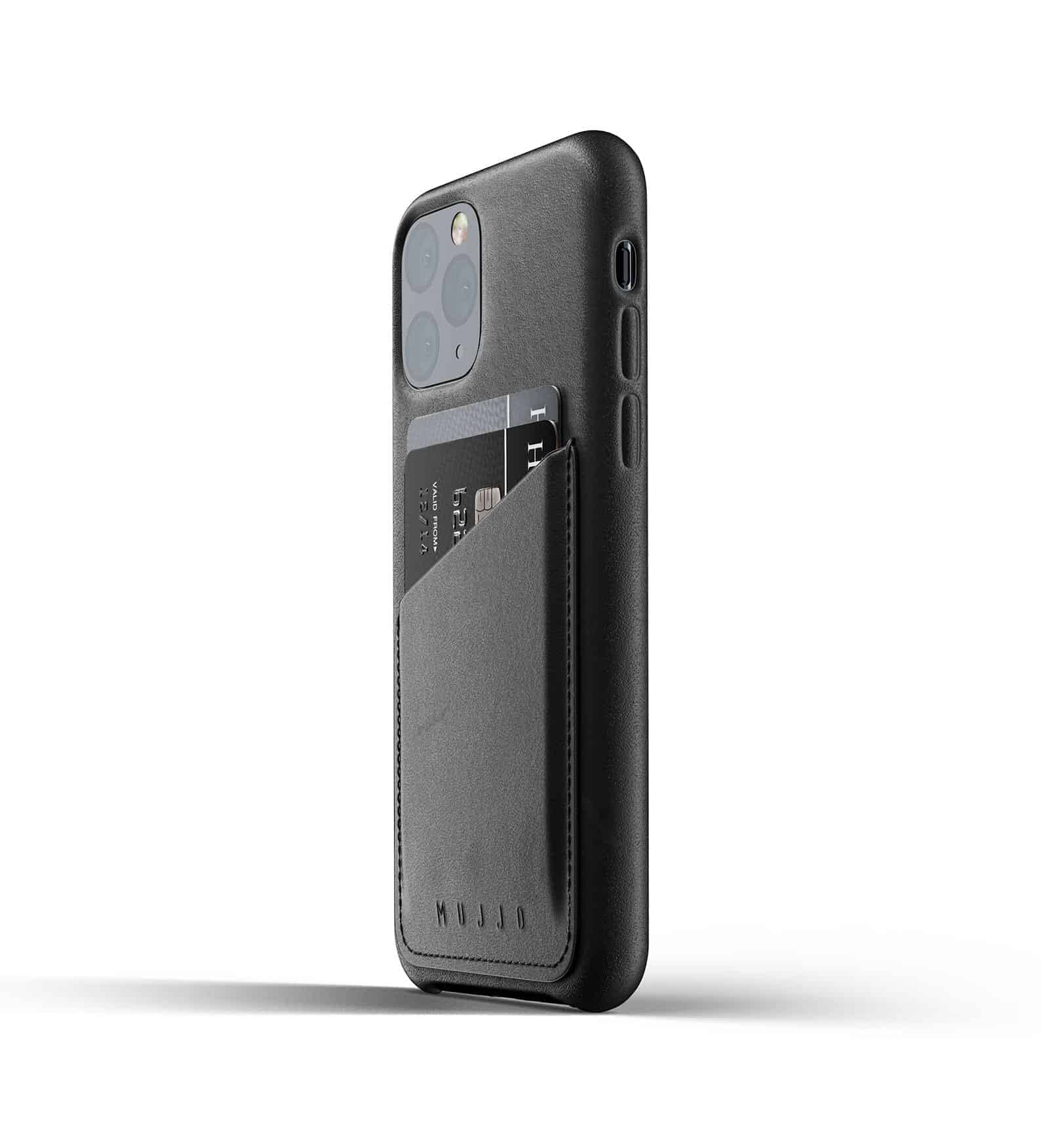 Full leather wallet case for iPhone 11 Pro Black Thumbnail 03