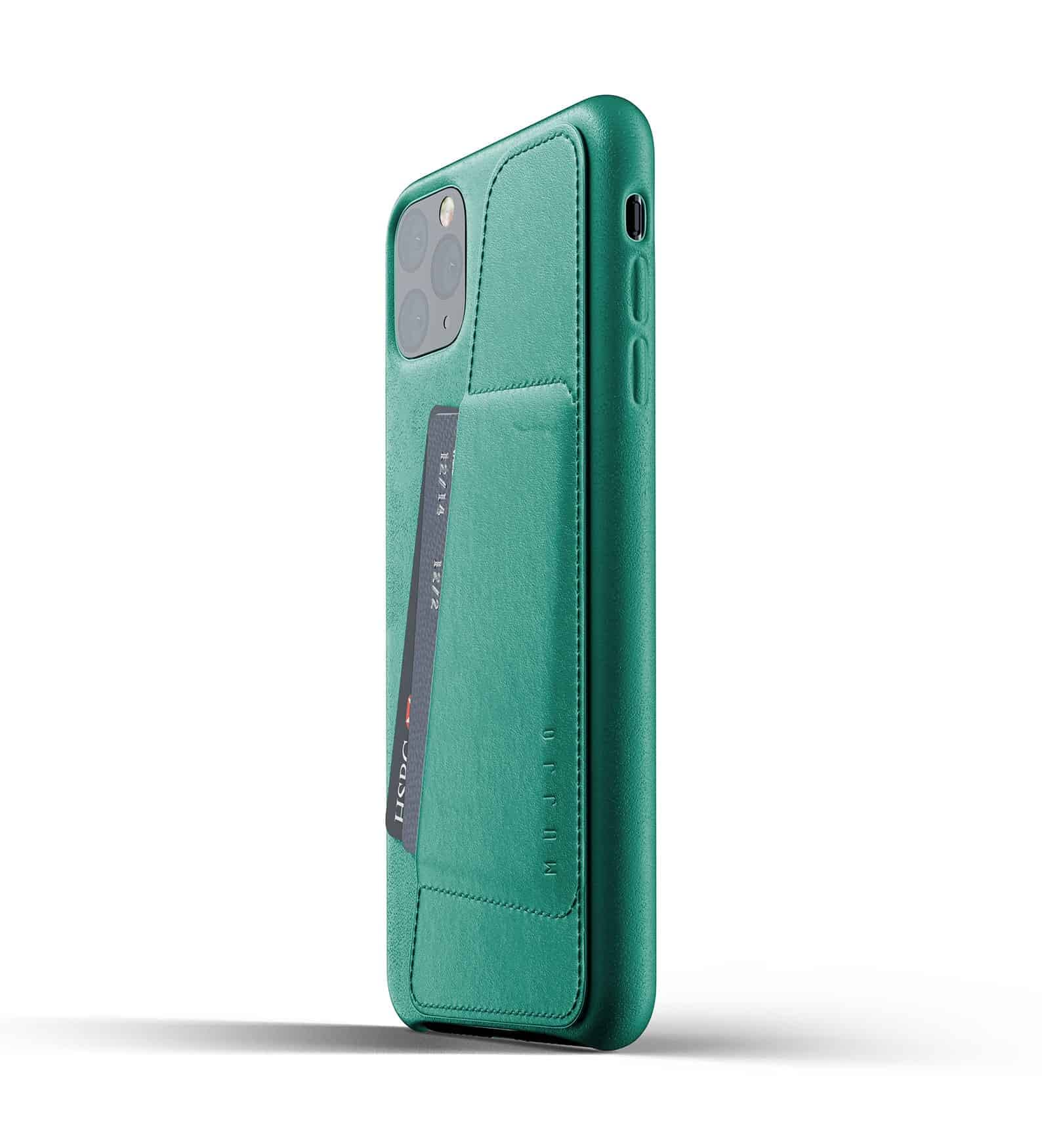 Full leather wallet case for iPhone 11 Pro Max Alpine Green Thumbnail 03