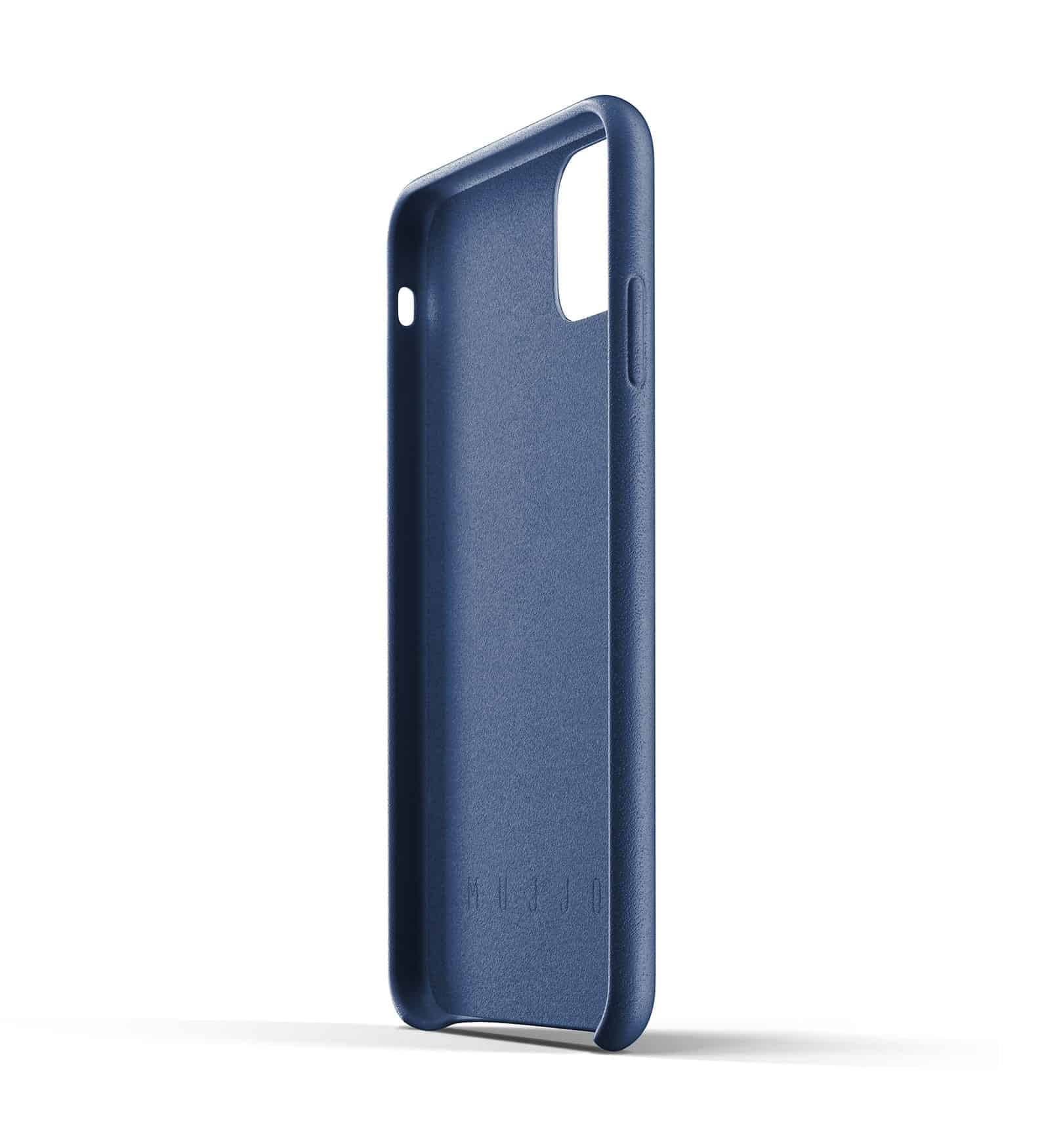 Full leather wallet case for iPhone 11 Pro Max Blue Thumbnail 05