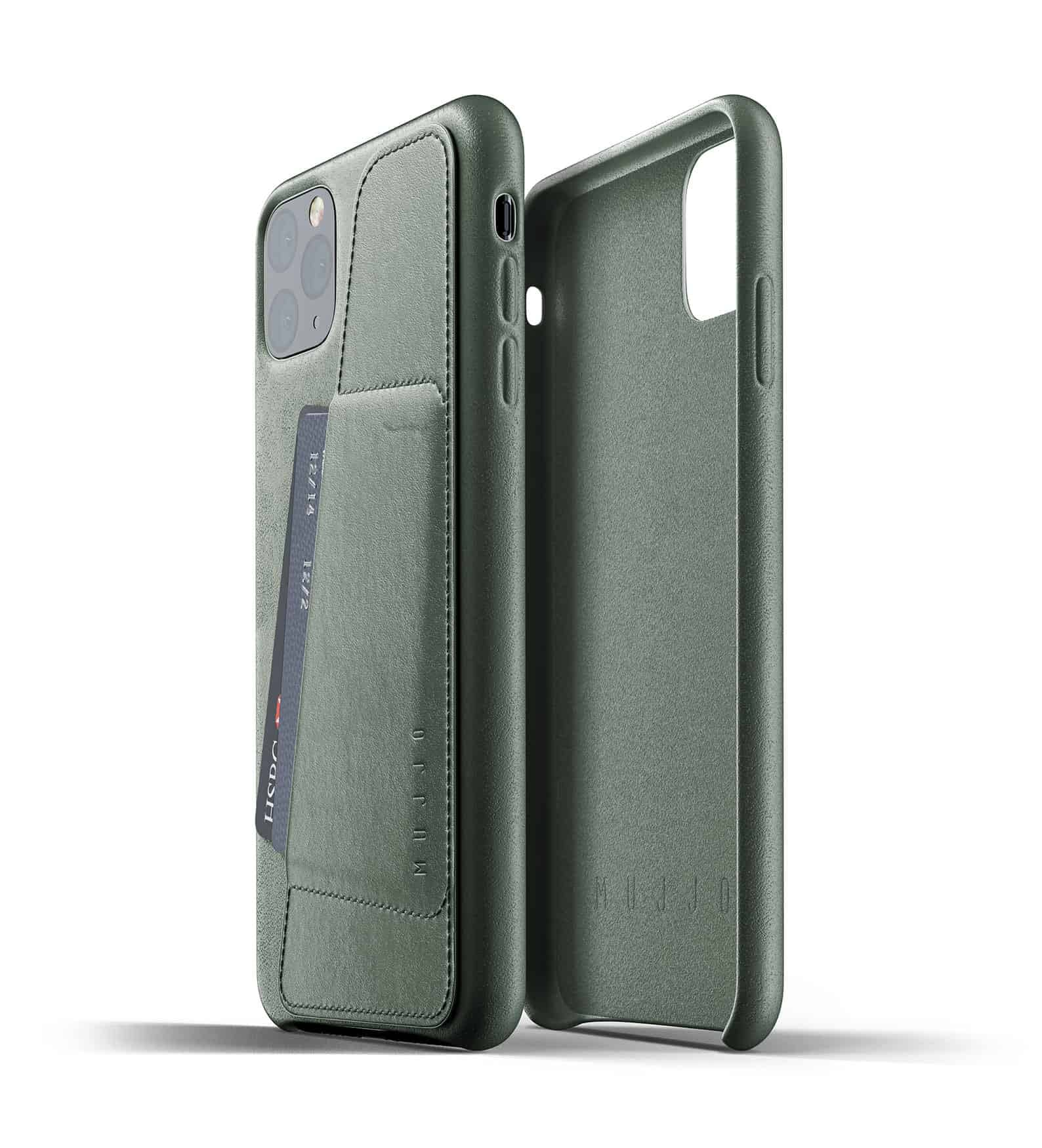 Full leather wallet case for iPhone 11 Pro Max Slate Green Thumbnail 02
