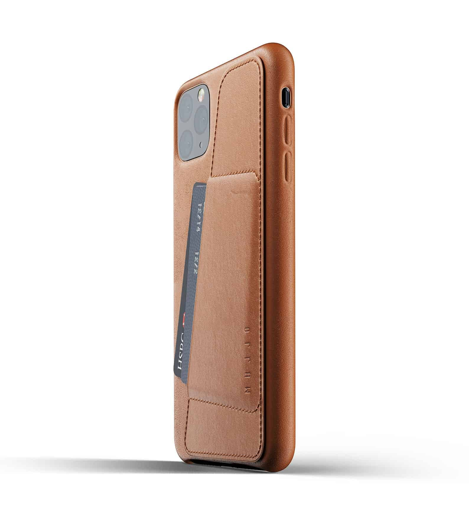 Full leather wallet case for iPhone 11 Pro Max Tan Thumbnail 03