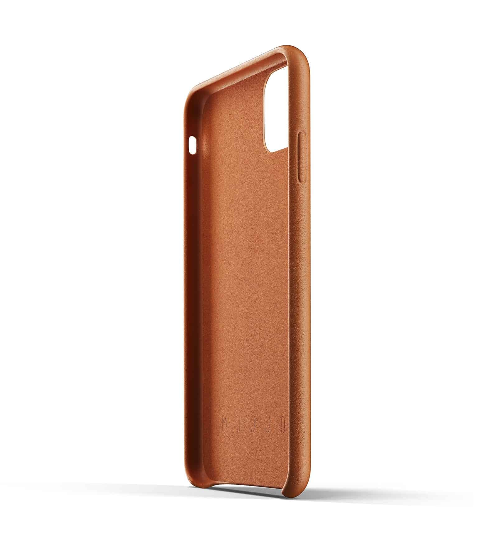 Full leather wallet case for iPhone 11 Pro Max Tan Thumbnail 05