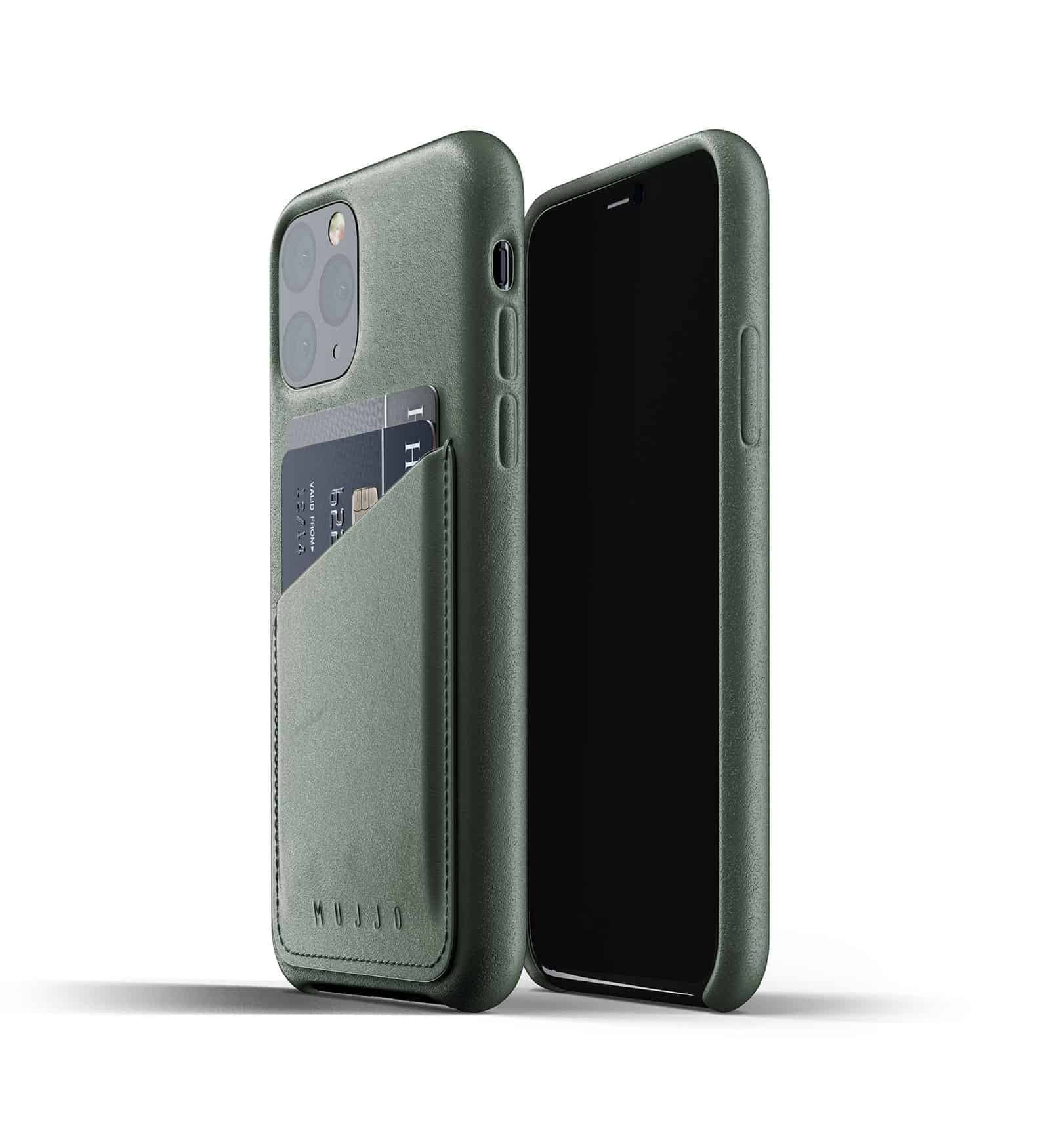 Full leather wallet case for iPhone 11 Pro Slate Green Thumbnail 01