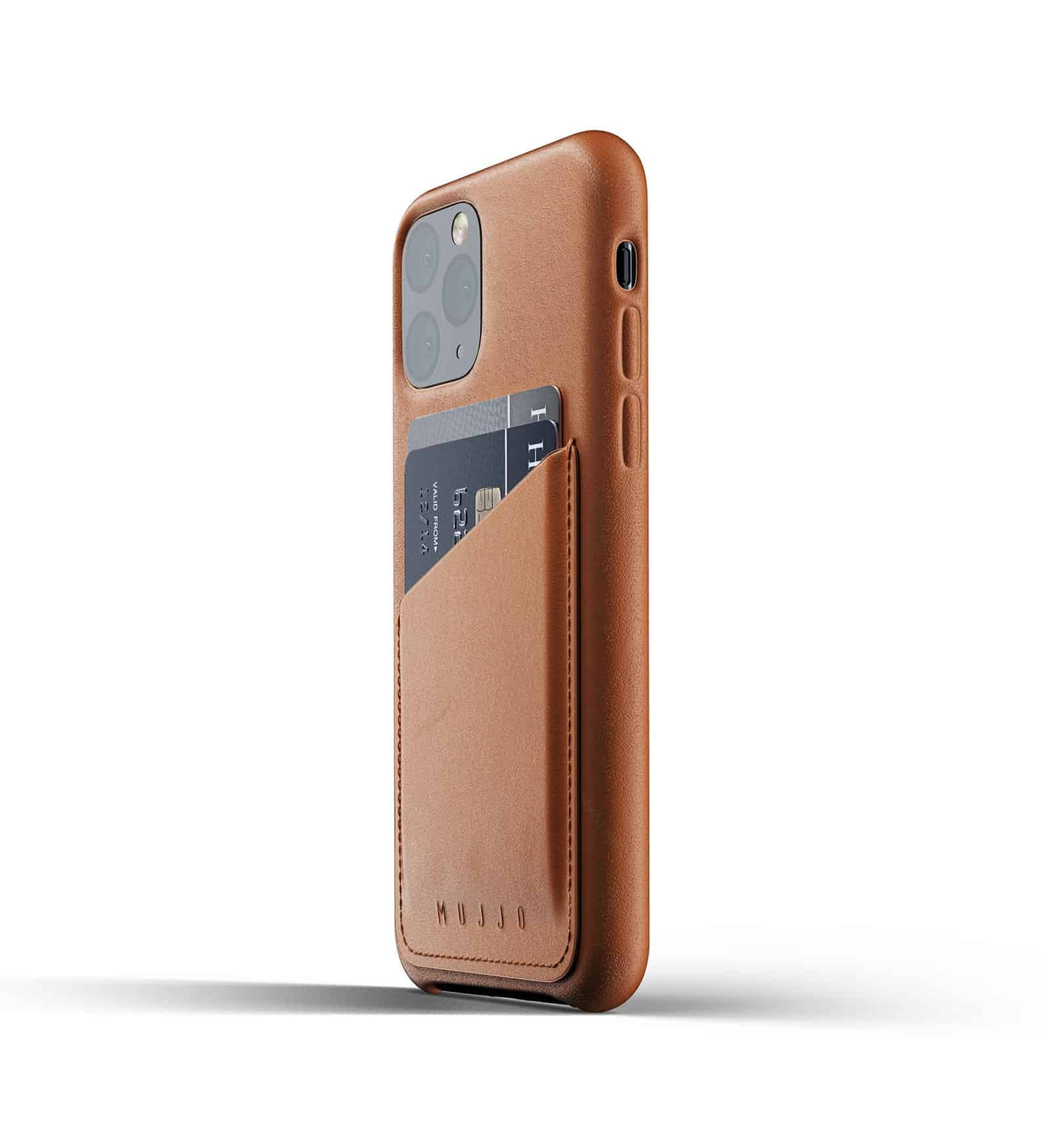 Full leather wallet case for iPhone 11 Pro Tan Thumbnail 03