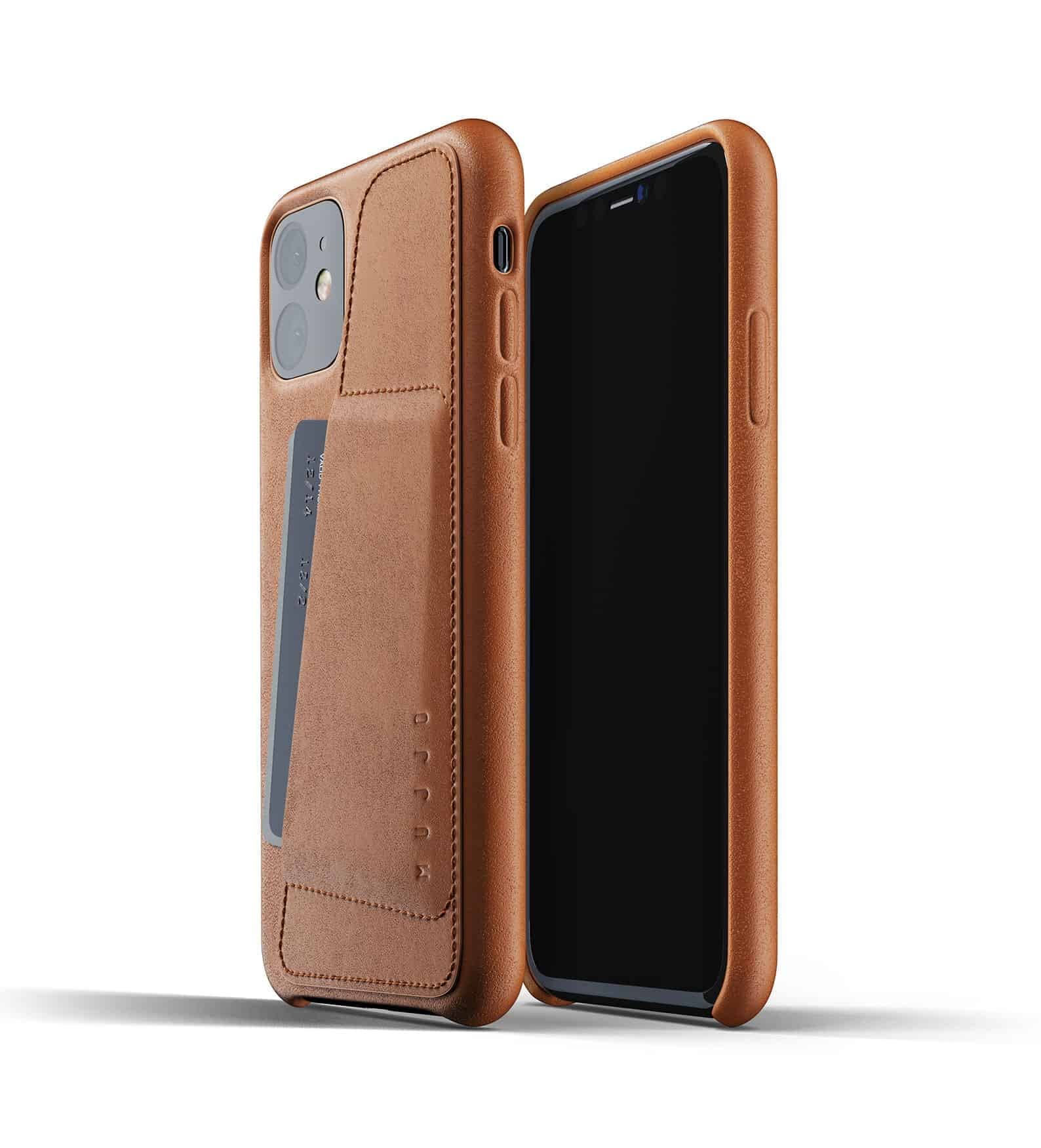 Full leather wallet case for iPhone 11 Tan Thumbnail 01