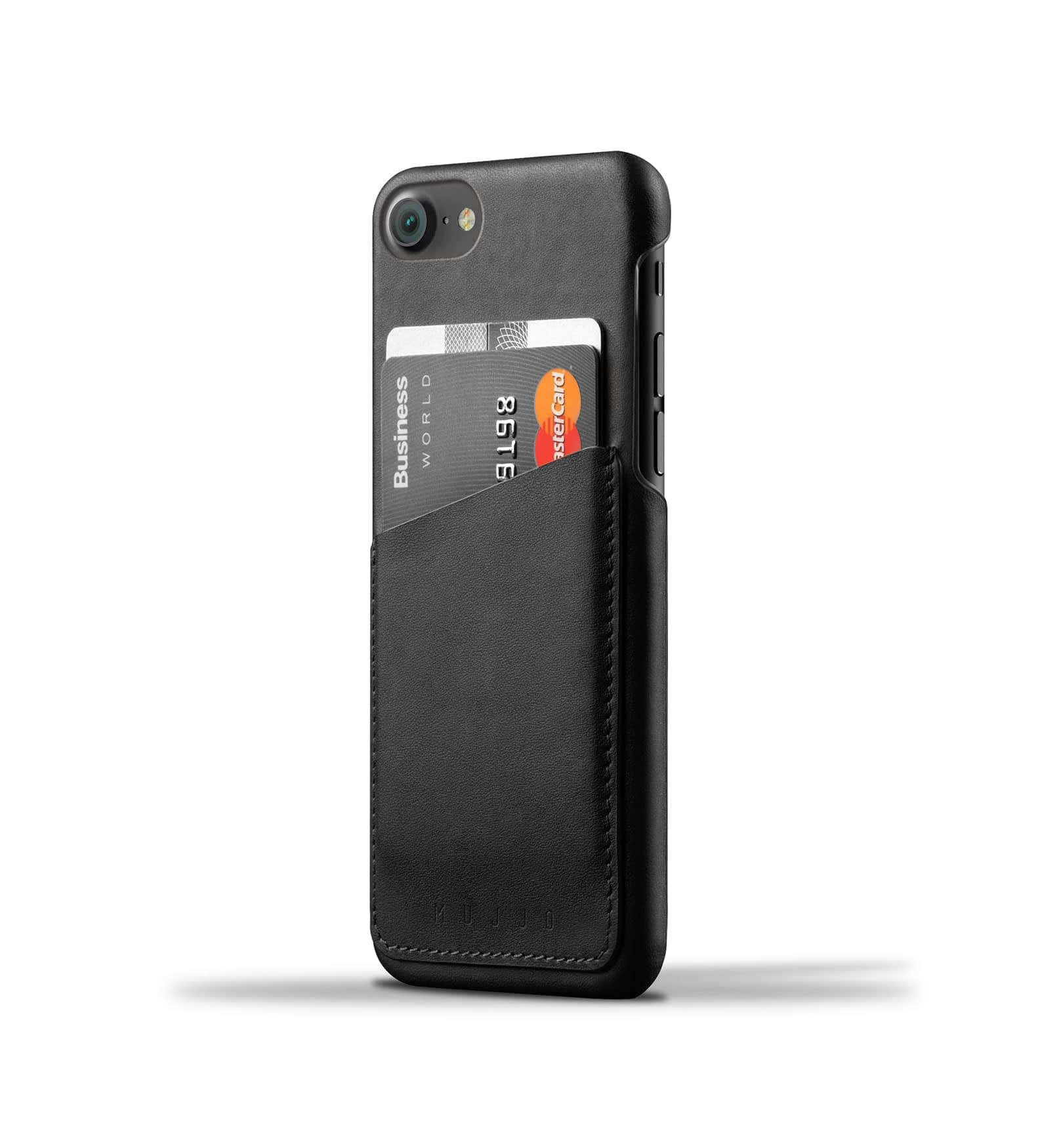 Leather Wallet Case for iPhone 8 / 7 - Black 1