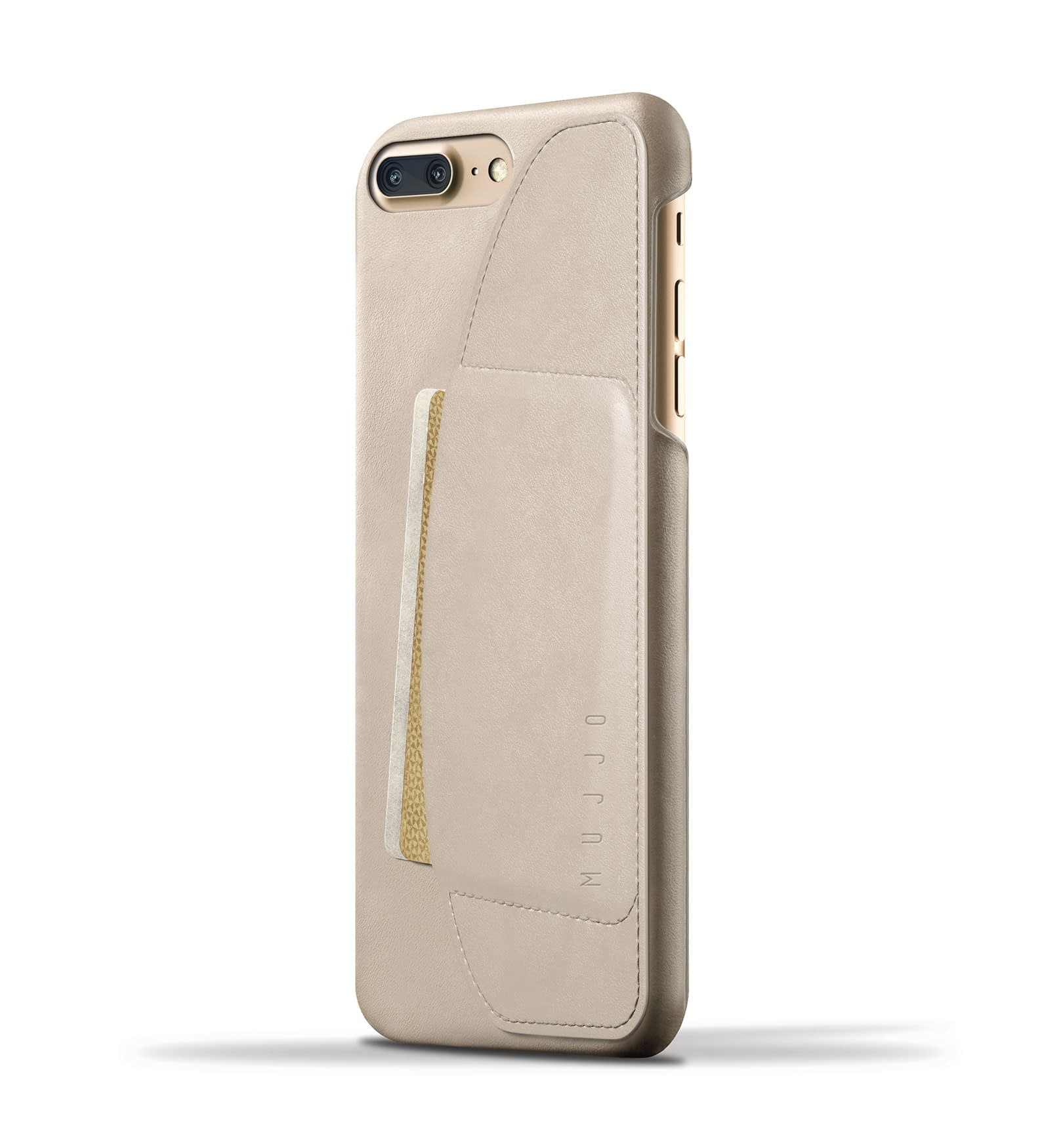 Leather Wallet Case for iPhone 8 Plus : 7 Plus Champagne Thumbnail 1