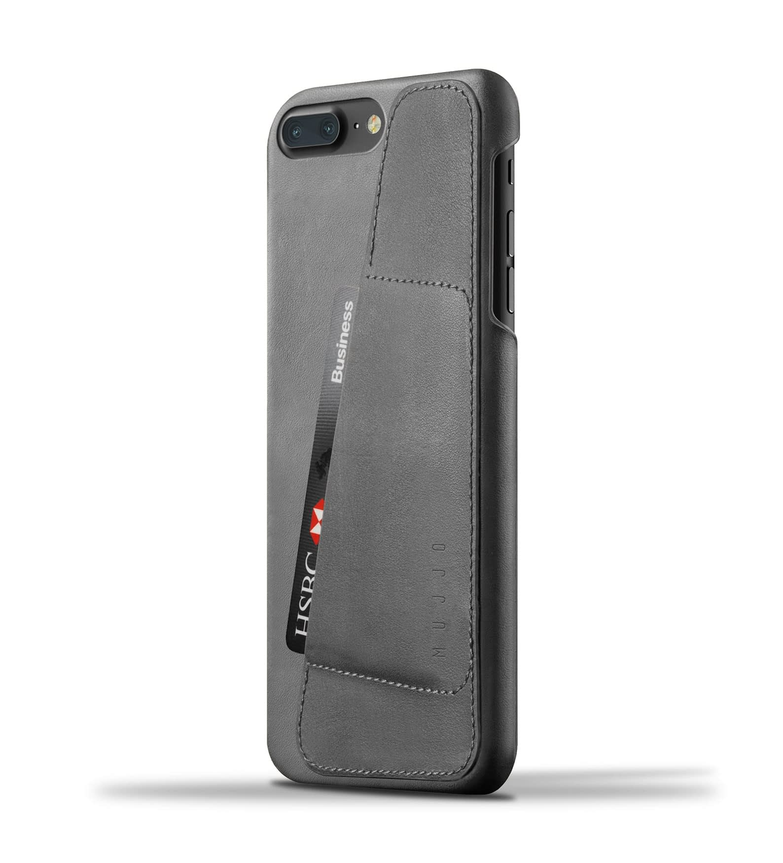 Leather Wallet Case for iPhone 8 Plus : 7 Plus Gray Thumbnail 001