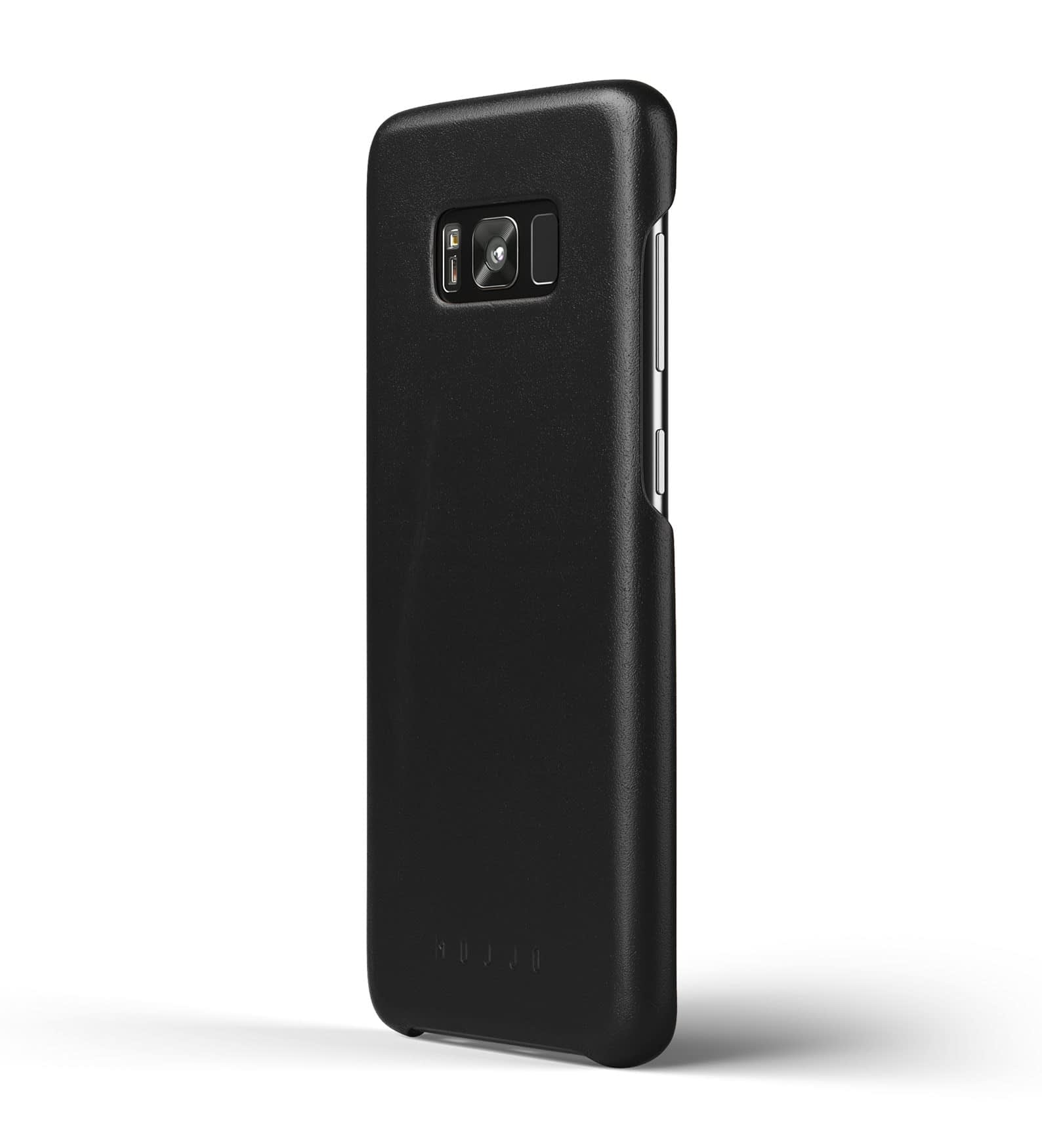 Leather case for Galaxy S8+ Black Thumbnail  1