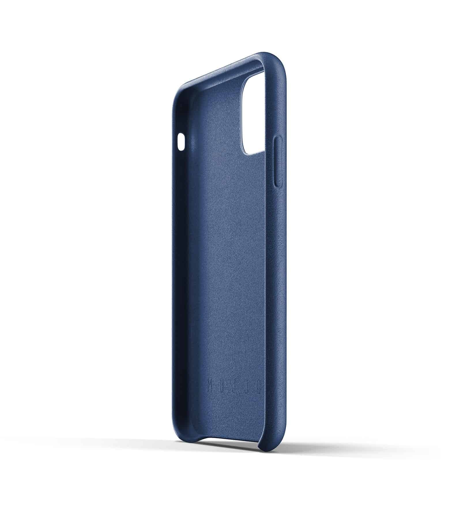 Full leather wallet case for iPhone 11 Blue Thumbnail 05