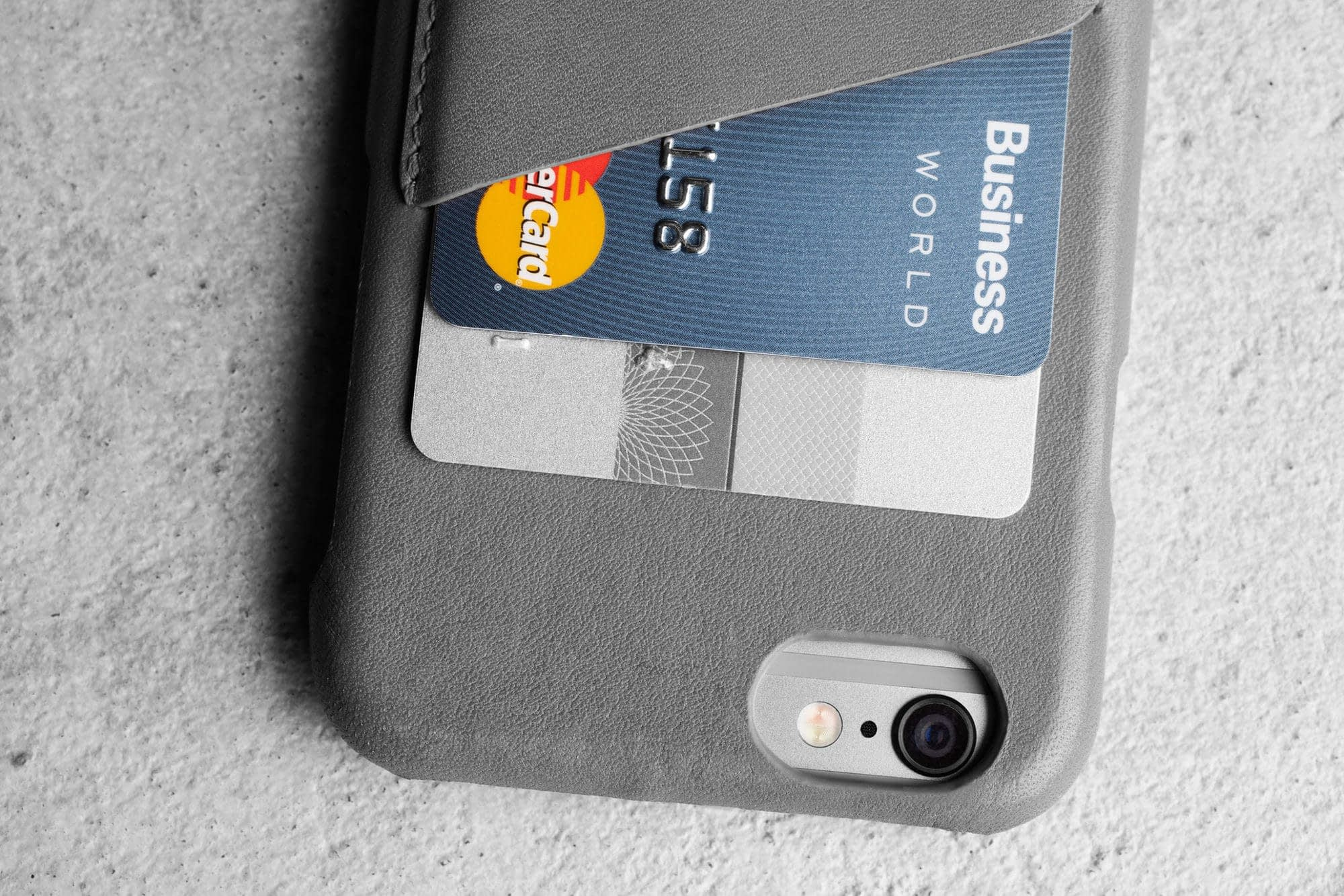 Header Leather Wallet Case for iPhone 6 Gray Lifestyle 505