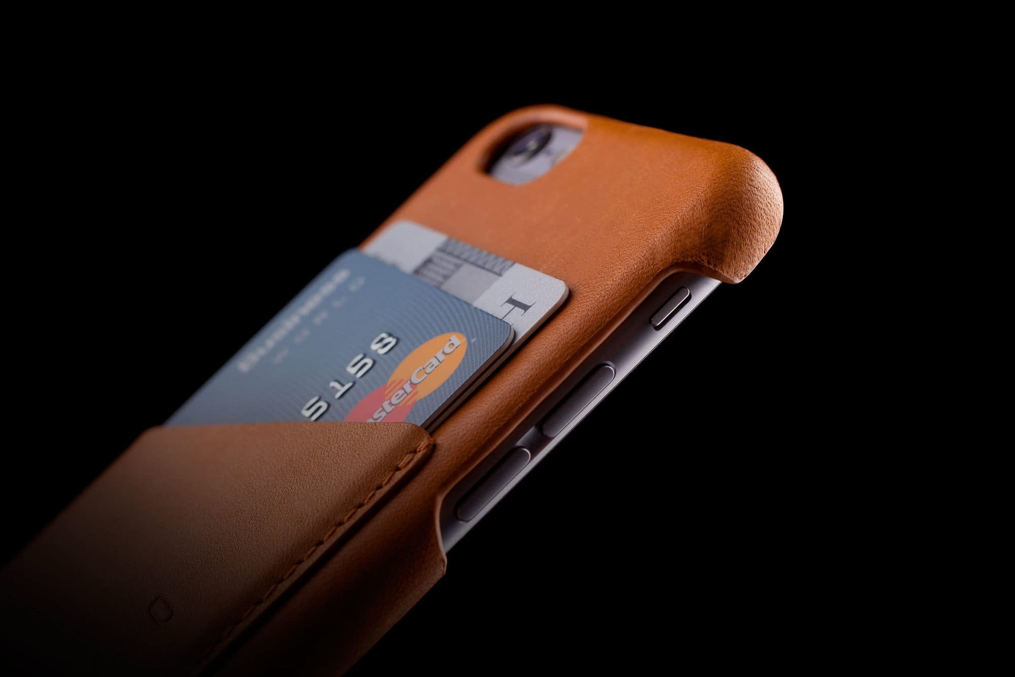 Leather Wallet Case for iPhone 6 Tan Lifestyle 003