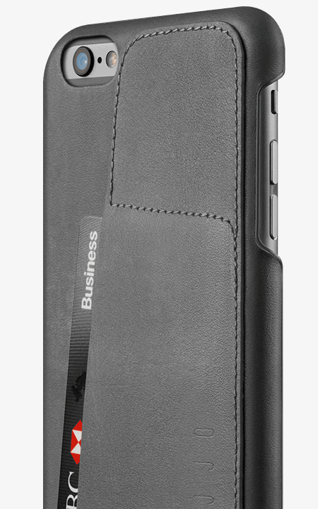 leather wallet case 80 for iphone 6s plus gray 002