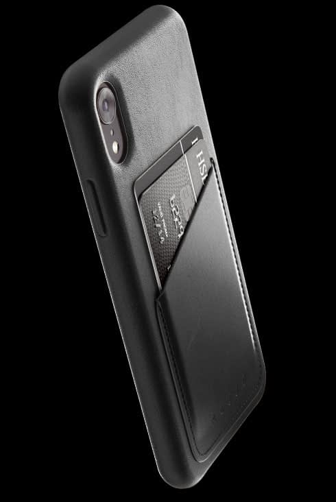 full leather wallet case for iphone Xr black 002