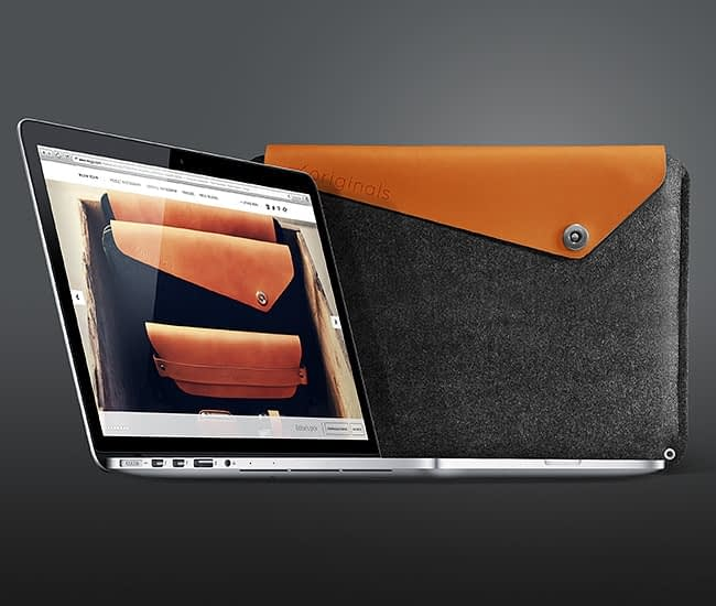 13 macbook pro retina sleeve by mujjo the originals collection