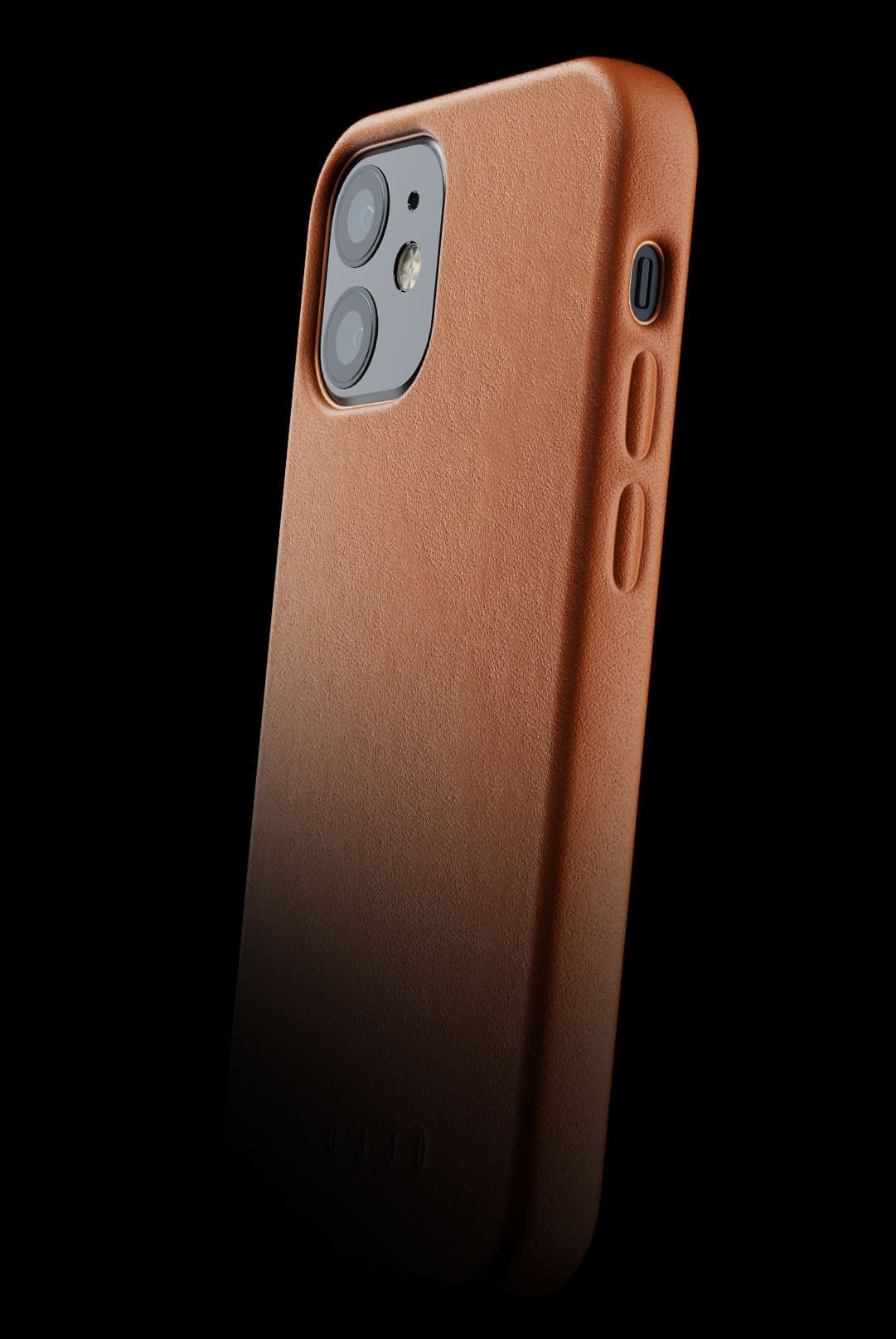 full leather case for iphone 12 mini tan 002