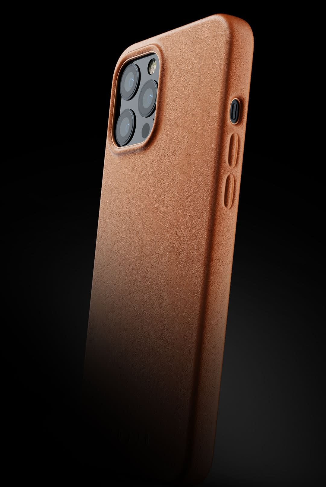 full leather case for iphone 12 pro max tan 002