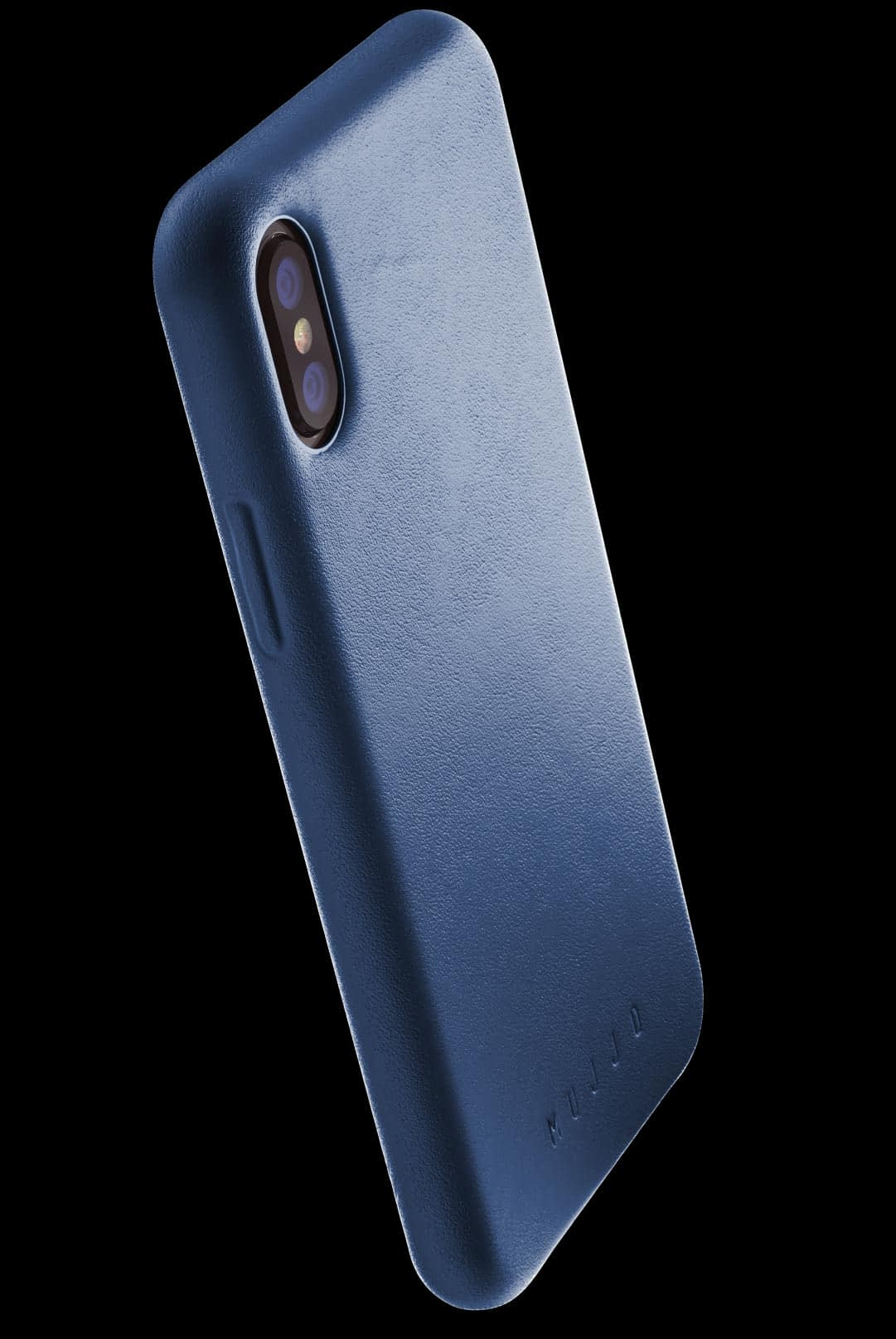 full leather case for iphone Xs blue 002