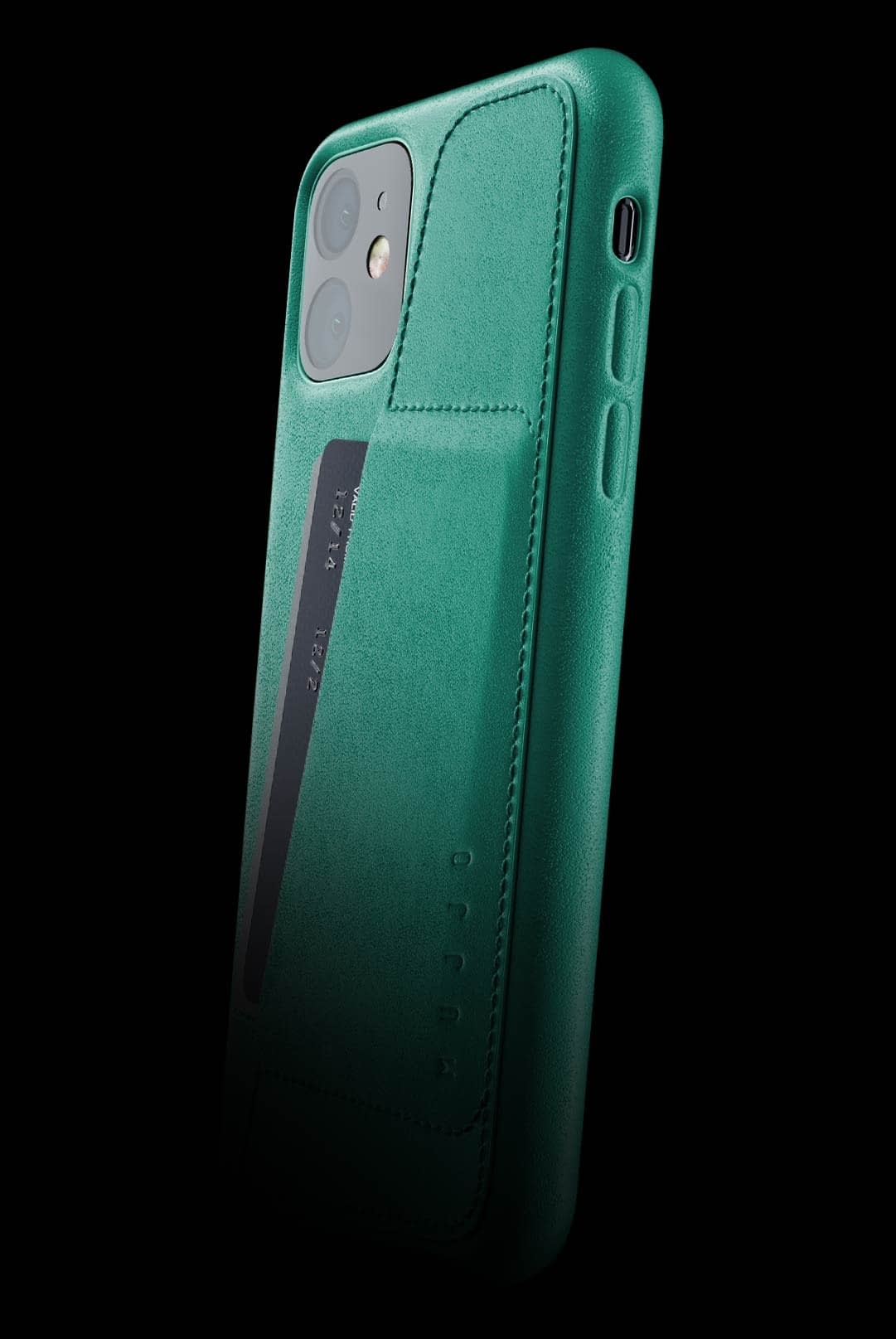 full leather wallet case for iphone 11 alpine green 002