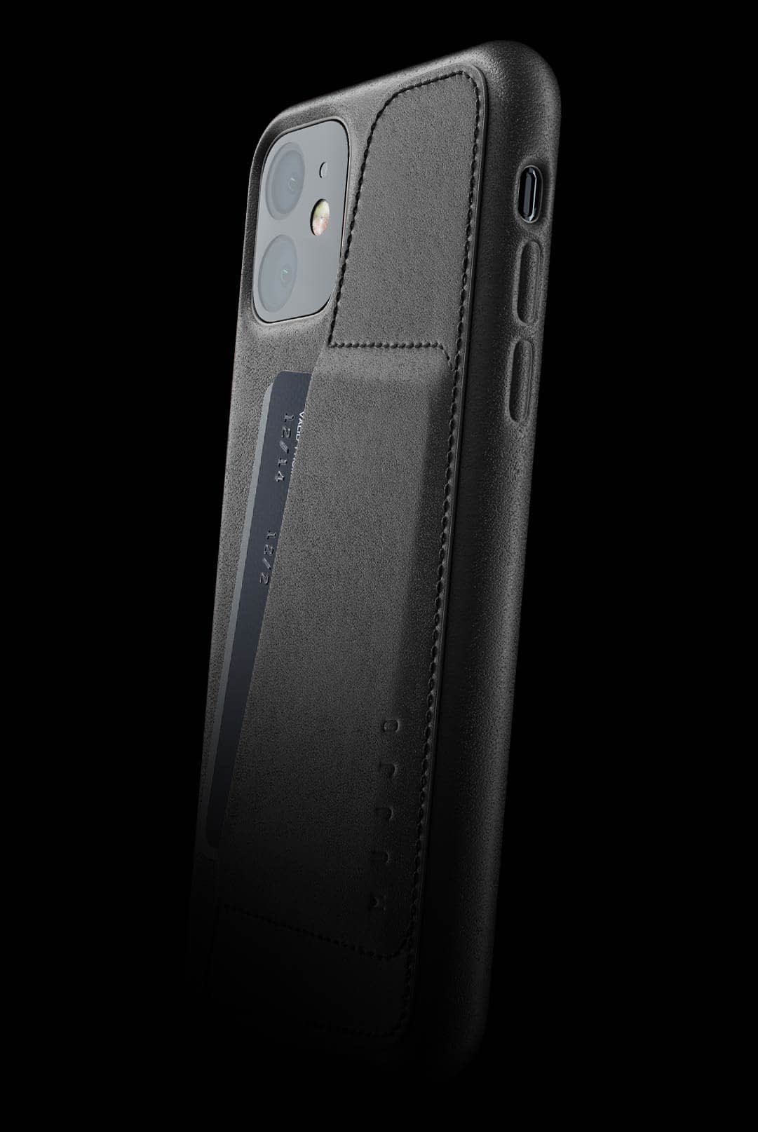 full leather wallet case for iphone 11 black 002