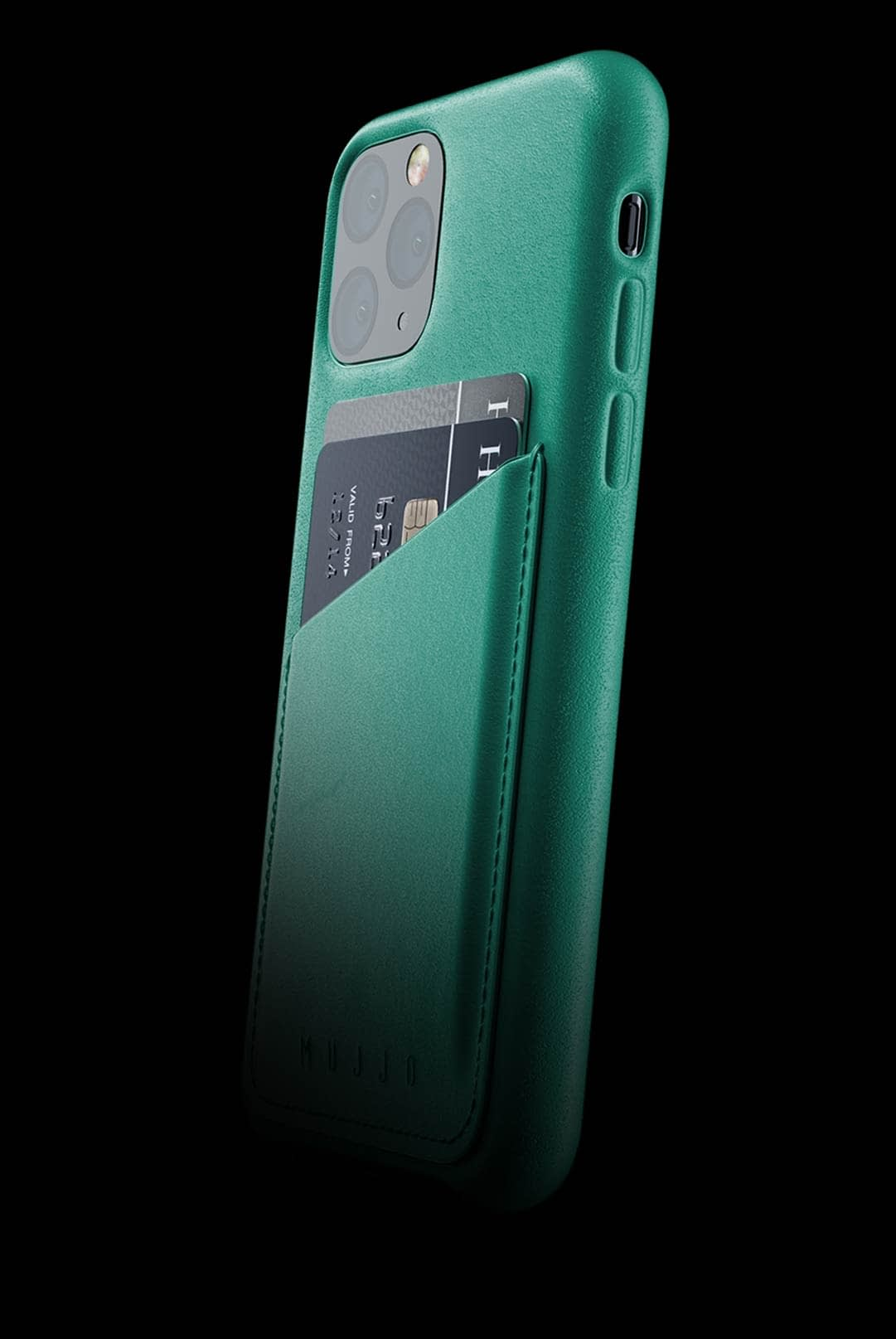 full leather wallet case for iphone 11 pro alpine green 002
