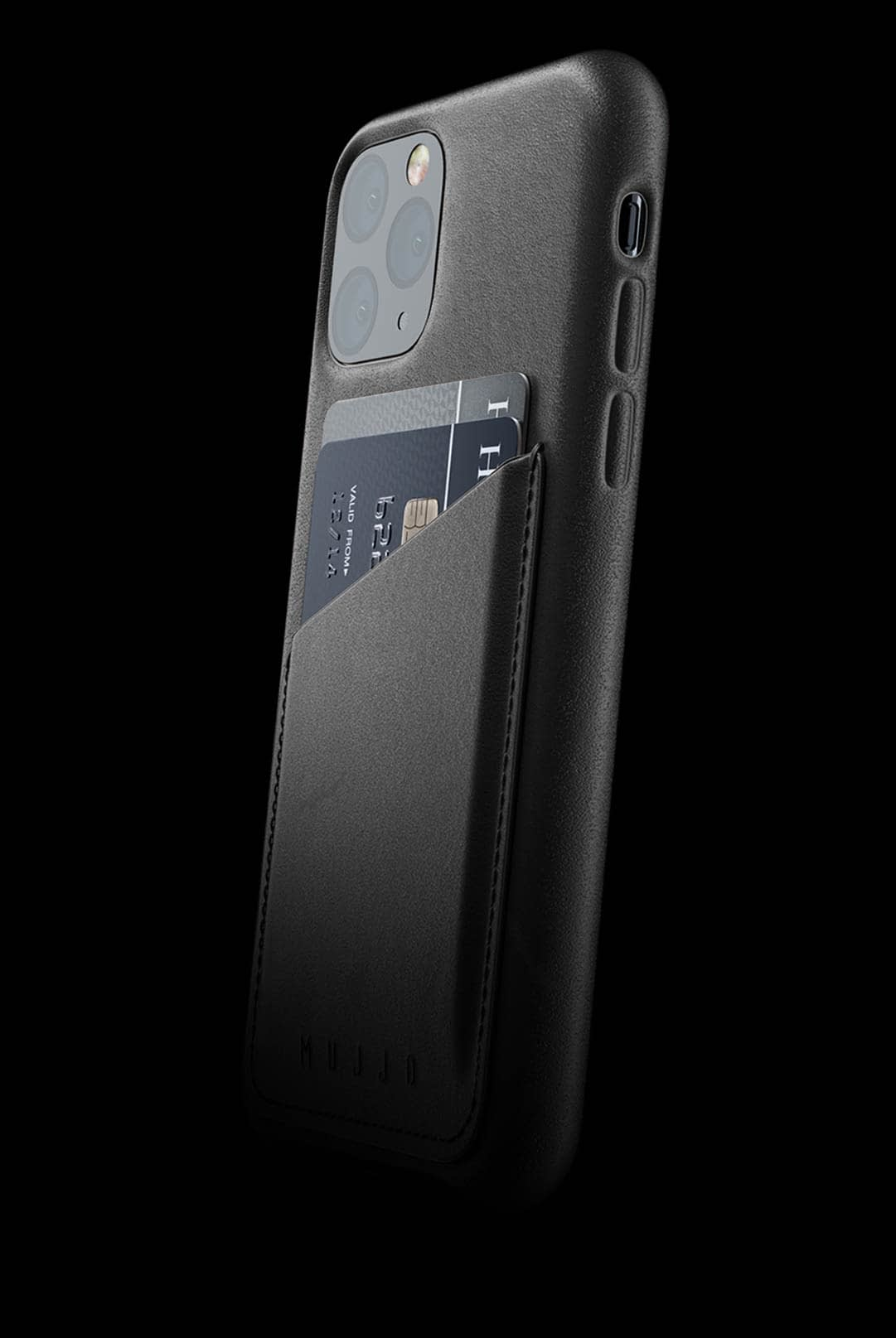 full leather wallet case for iphone 11 pro black 002