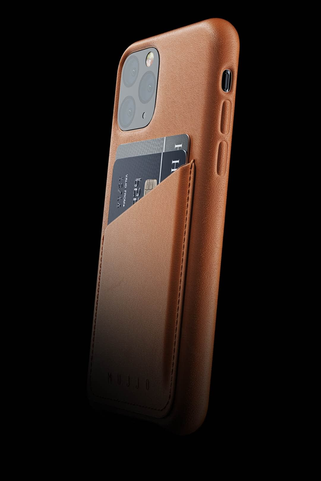 full leather wallet case for iphone 11 pro tan 002
