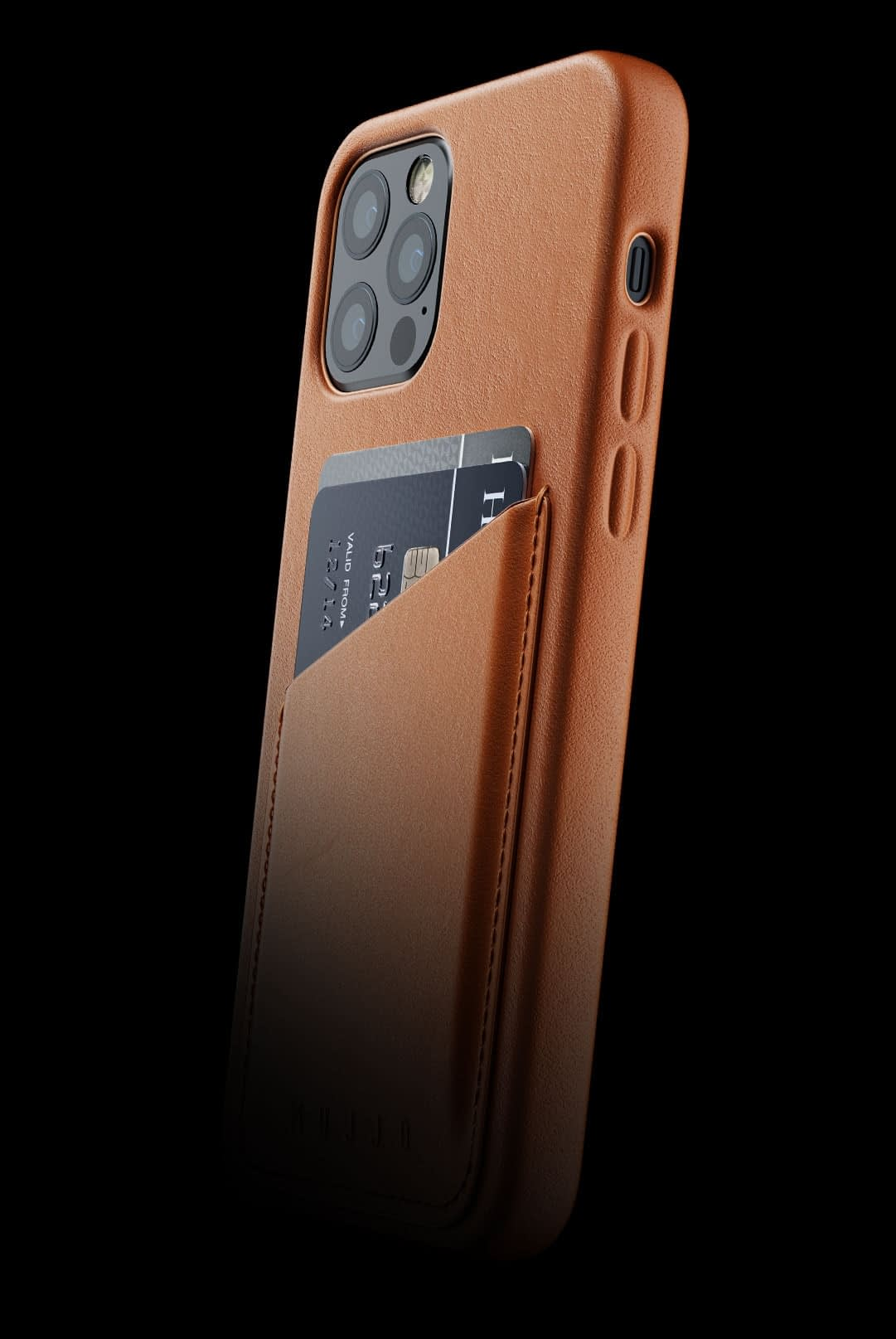 full leather wallet case for iphone 12 pro tan 002