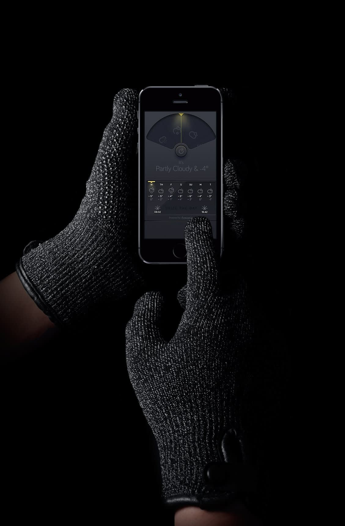 Double Layered Touchscreen Gloves 0011