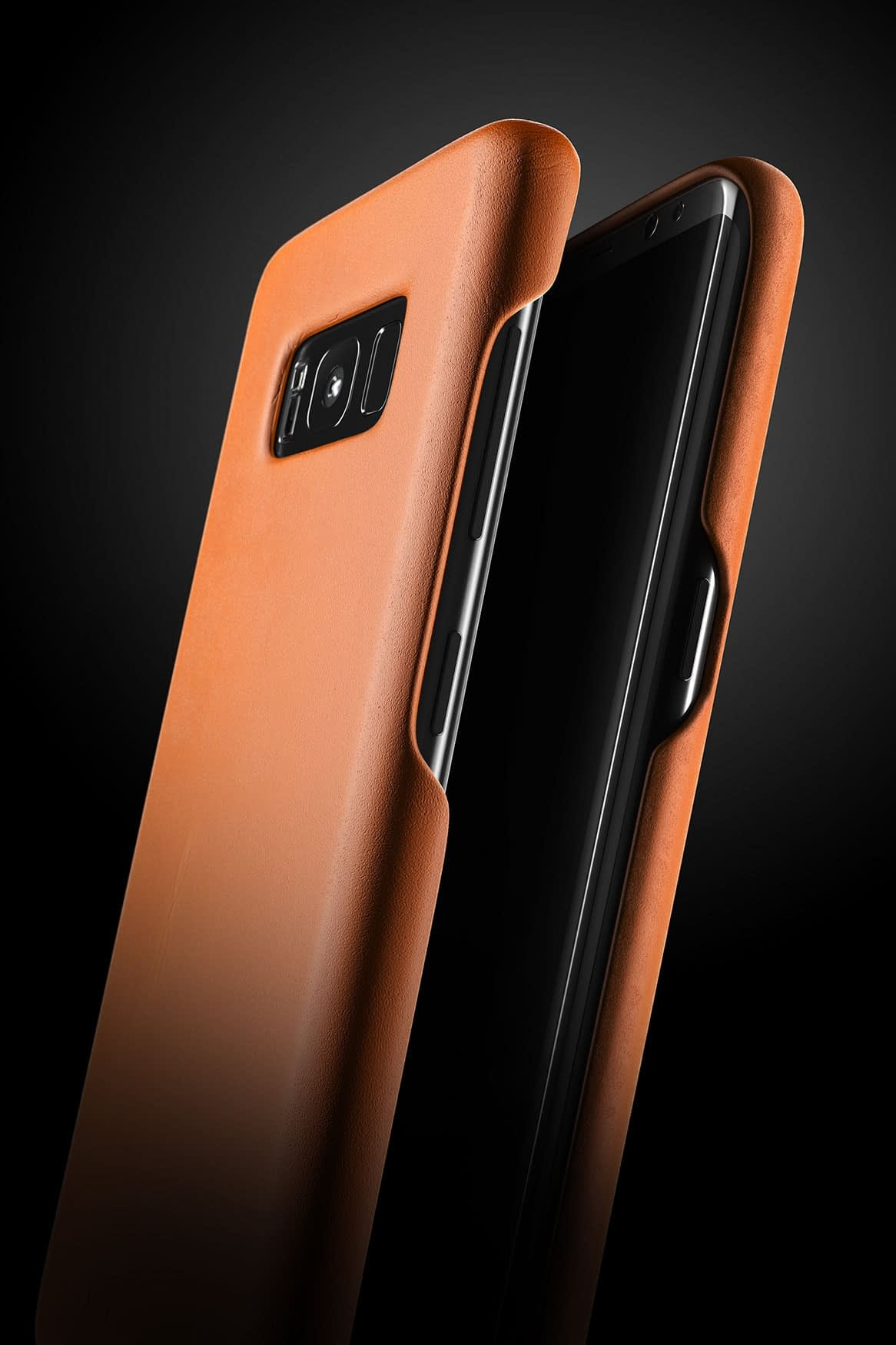 Leather case for Galaxy S8 Saddle Tan 7