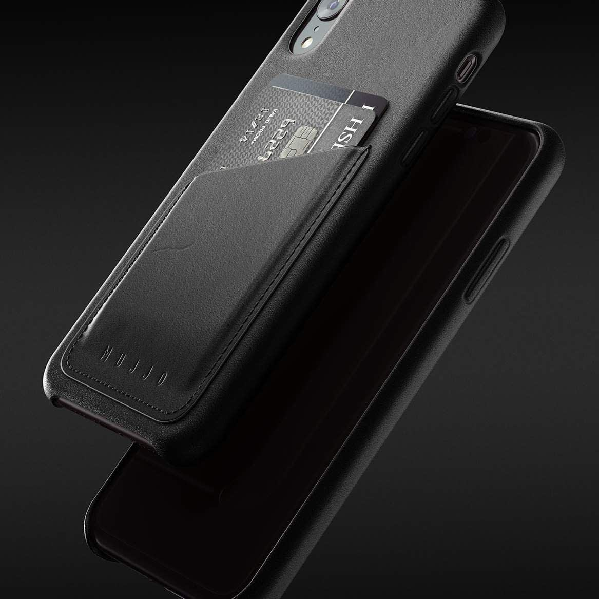 Full leather wallet case for iPhone Xr Black 08