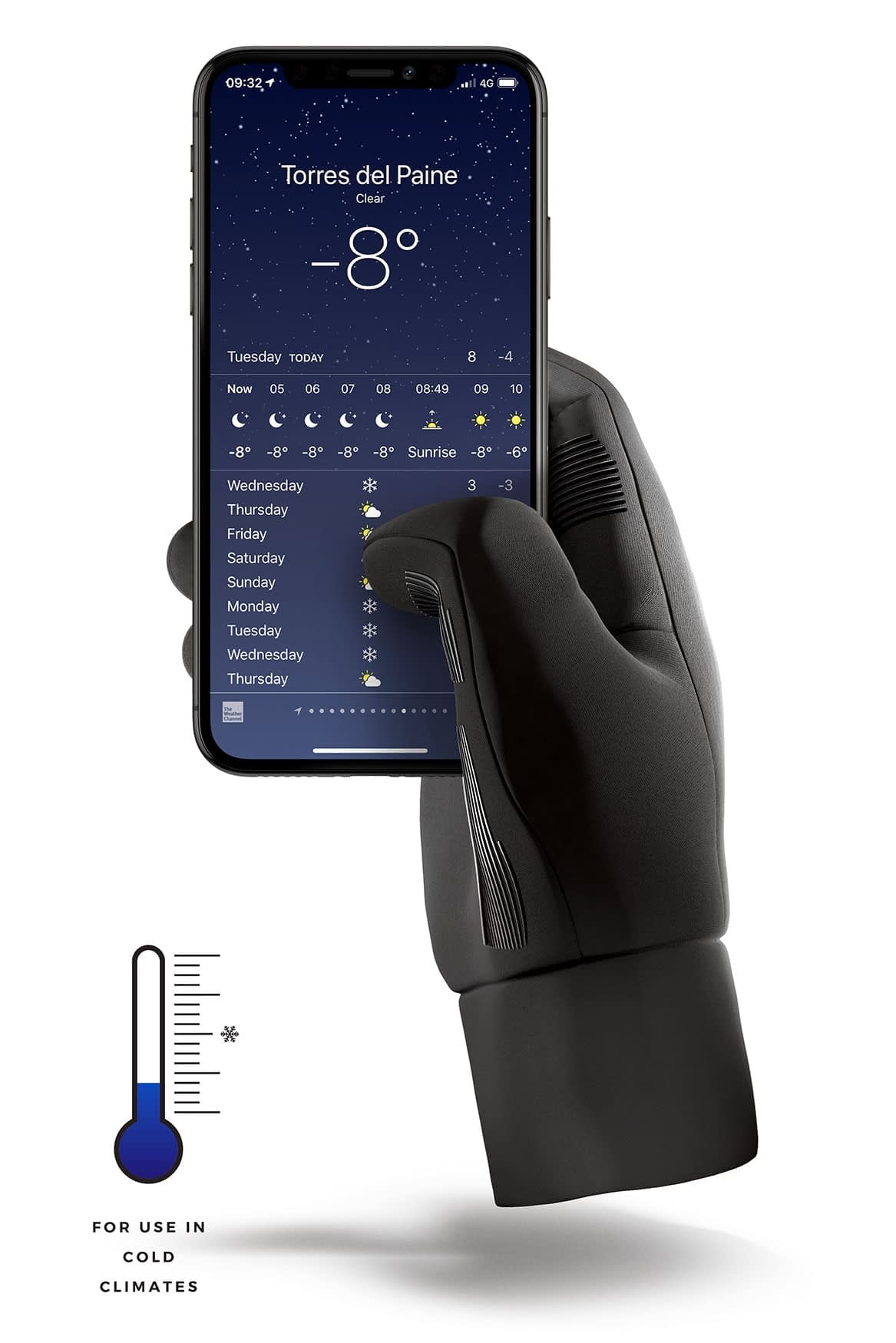 Double Insulated Touchscreen Gloves Thumbnail 05