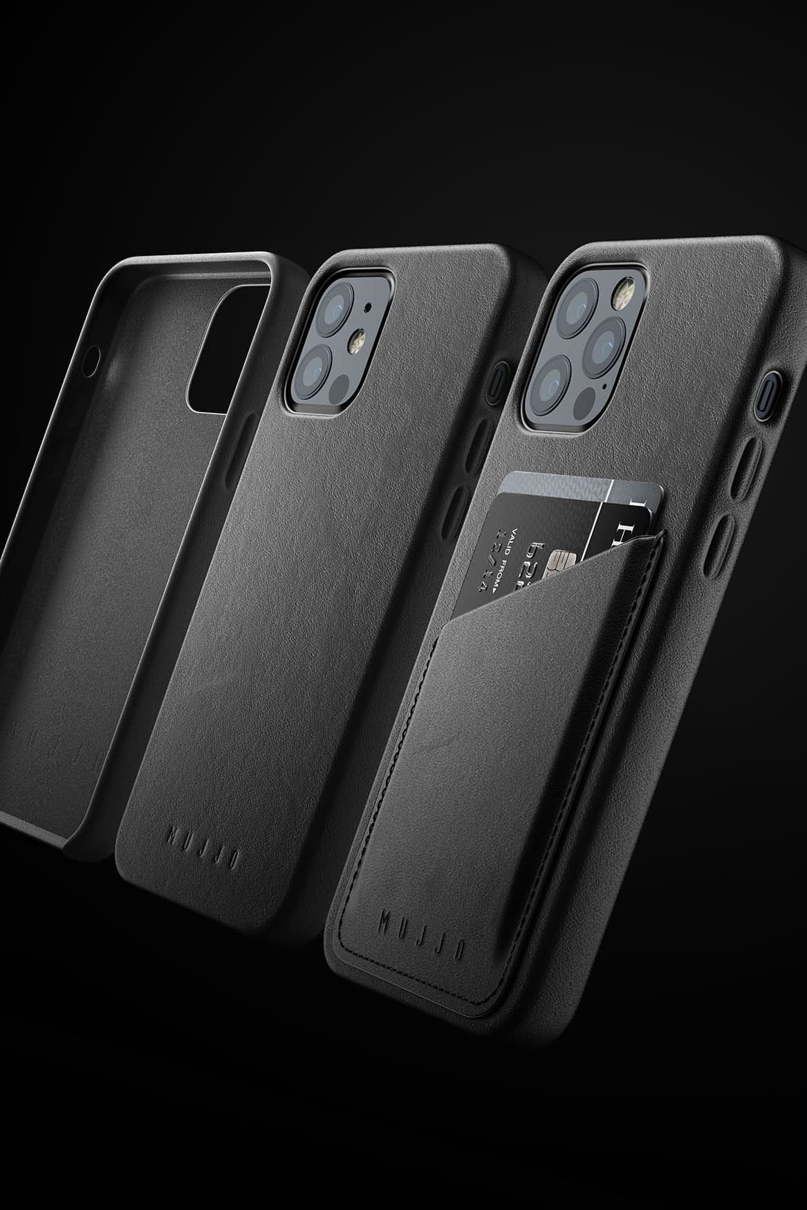 Full Leather Case for iPhone 12 12 Pro Black 08