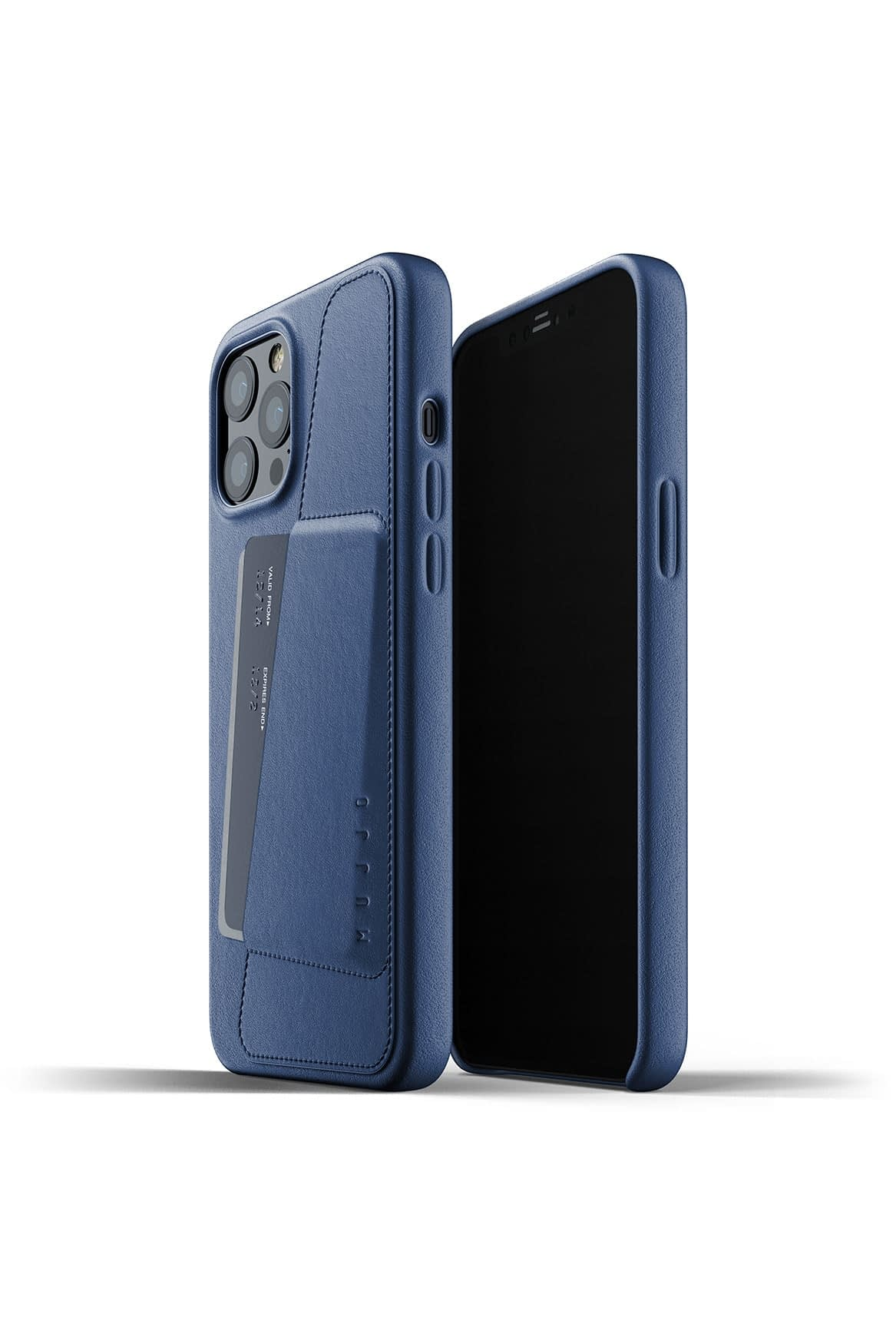 Full Leather Wallet Case for iPhone 12 Pro Max Monaco Blue Packshot 01