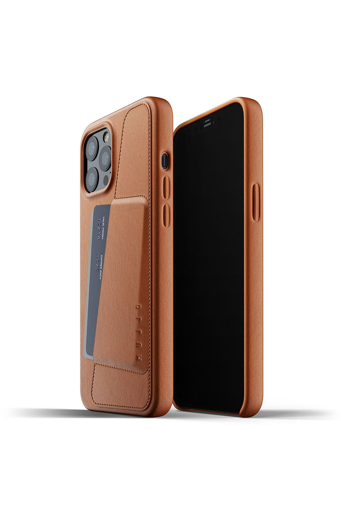 Full Leather Wallet Case for iPhone 12 Pro Max Tan Packshot 01