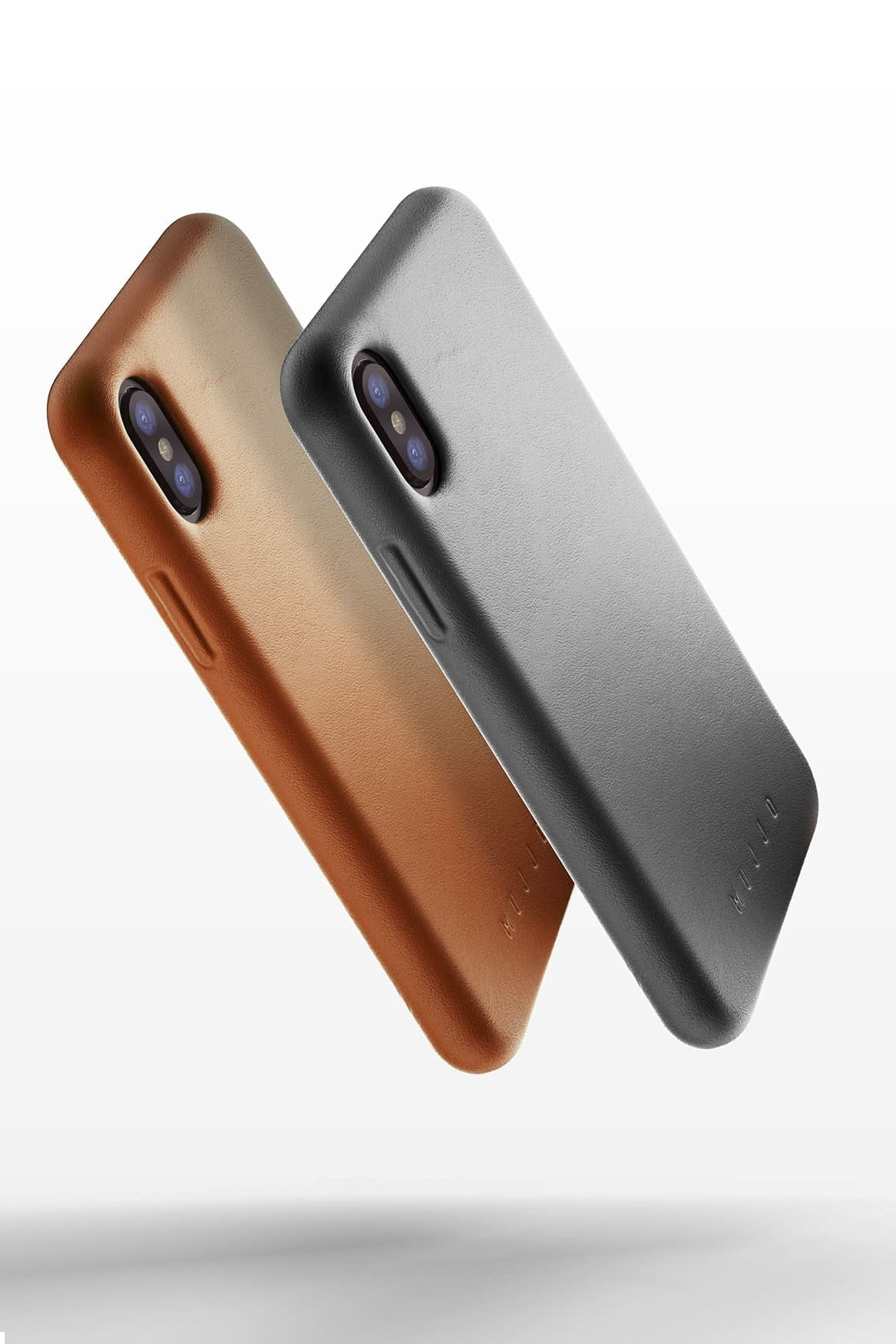 Full leather case for iPhone X Gray Line up 03